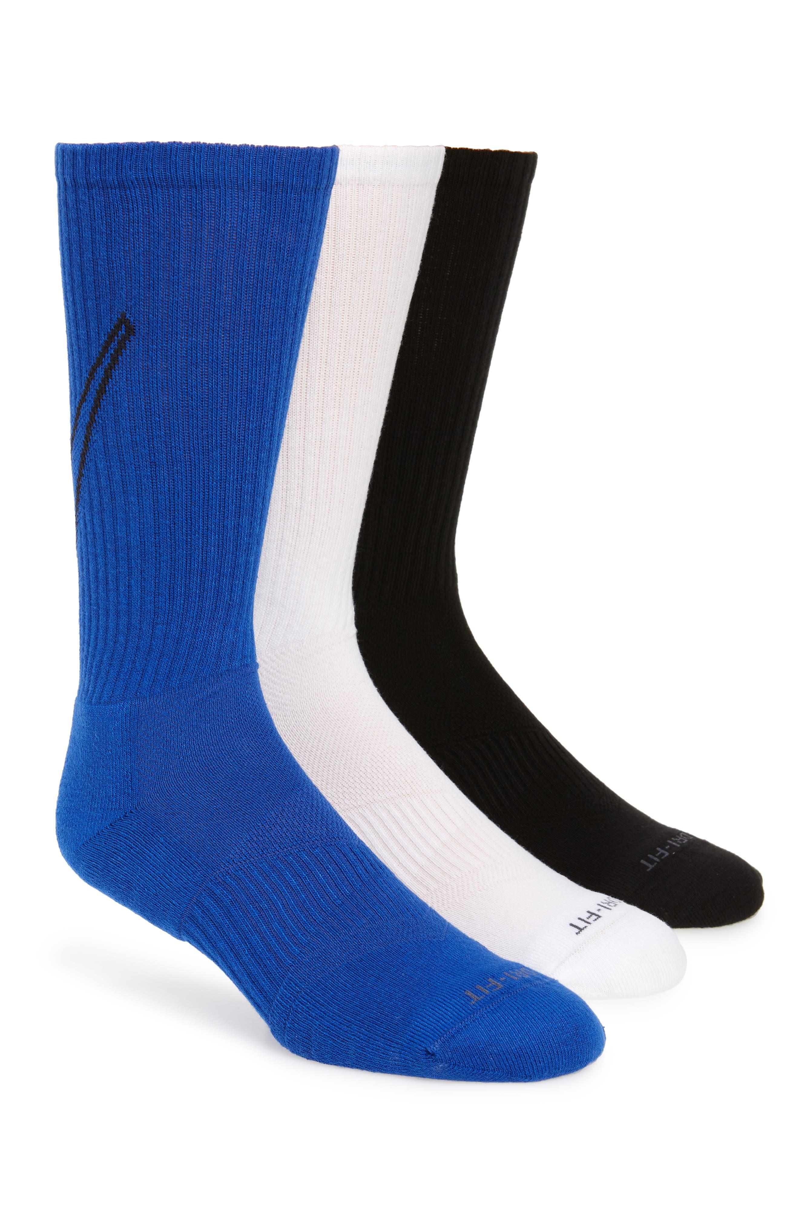 NIKE, Everyday Max Cushion 3-Pack Crew Socks, Main thumbnail 1, color, 100