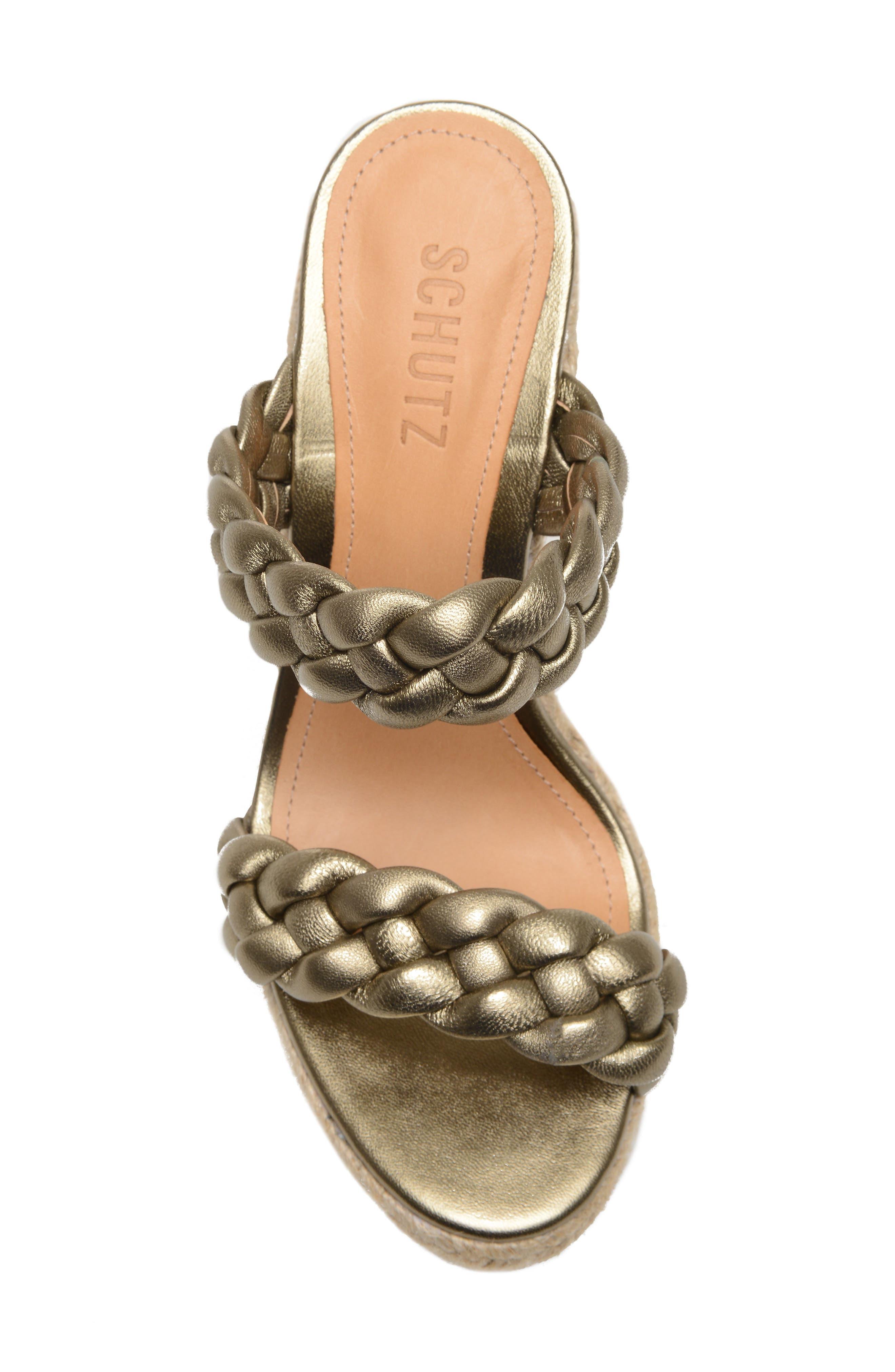 SCHUTZ, Dyandre Platform Wedge Slide Sandal, Alternate thumbnail 5, color, ALE WASH