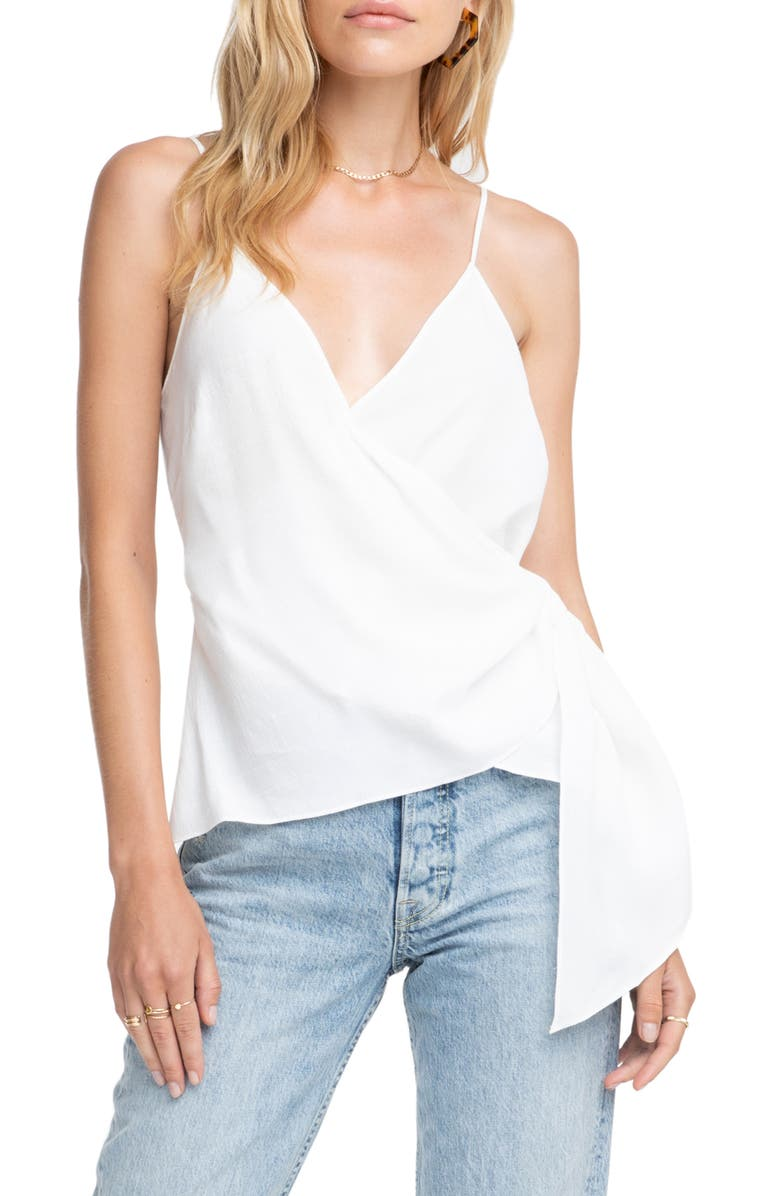 Astr Tops LANDON WRAP TOP