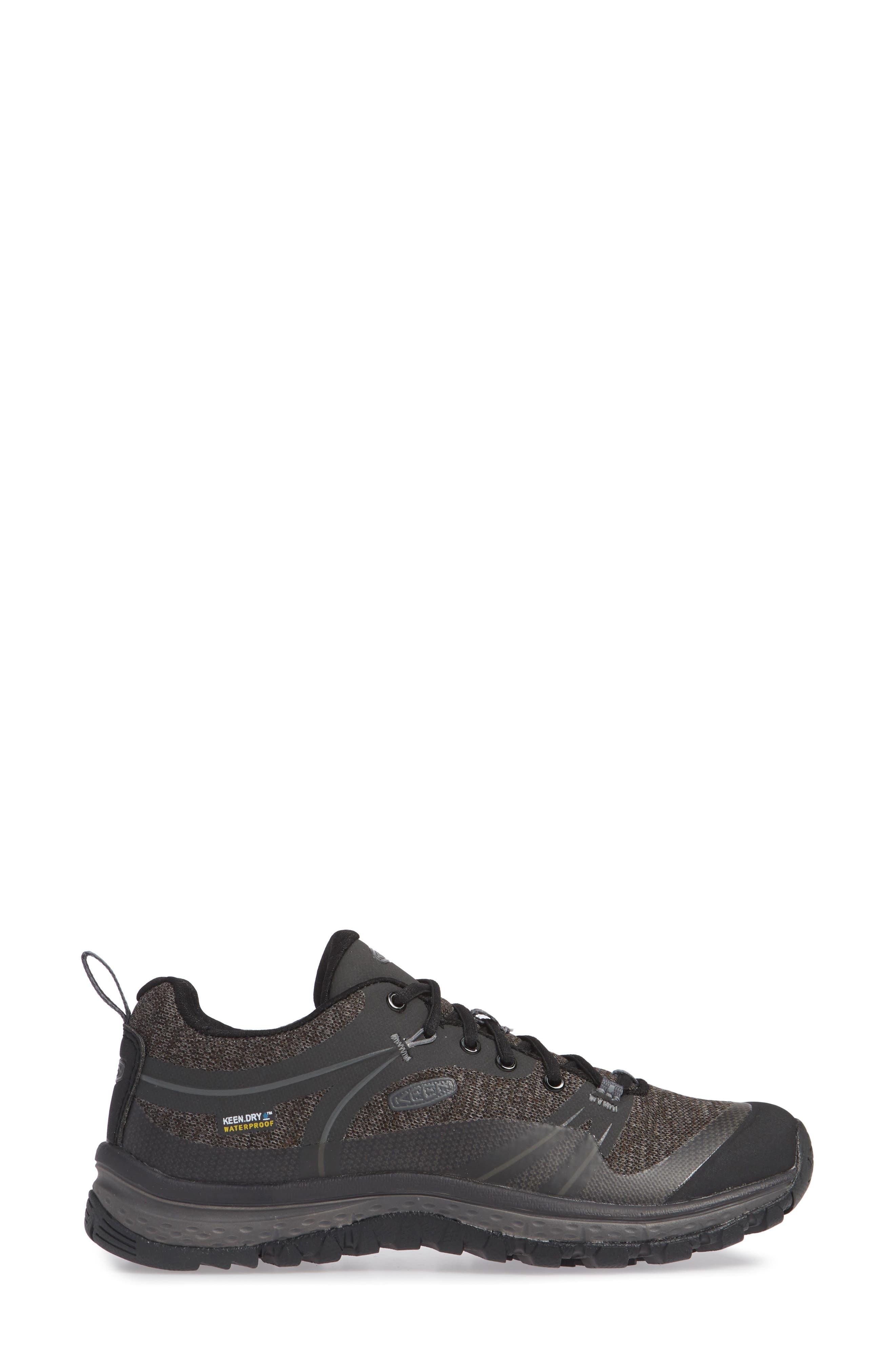 KEEN, Terradora Hiking Waterproof Sneaker, Alternate thumbnail 3, color, RAVEN/ GARGOYLE