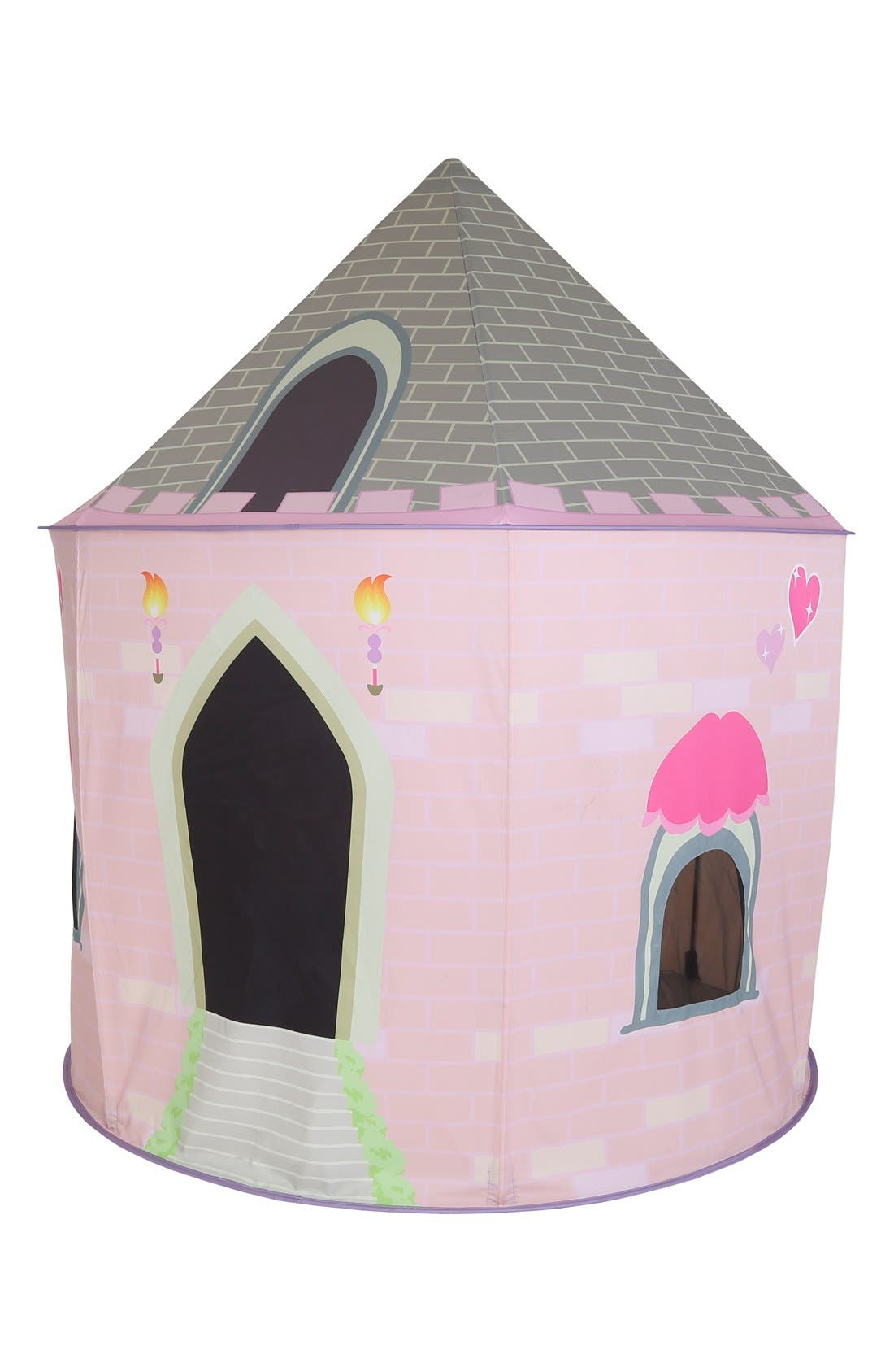 PACIFIC PLAY TENTS, 'Princess Castle' Pavilion, Alternate thumbnail 2, color, PINK/ WHITE