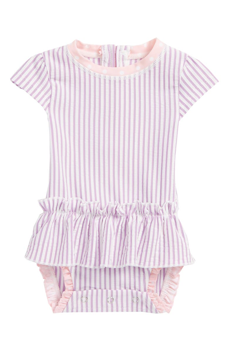cf2c9c58ad9e6 RuffleButts Lilac Peplum One-Piece Swimsuit (Baby Girls) | Nordstrom