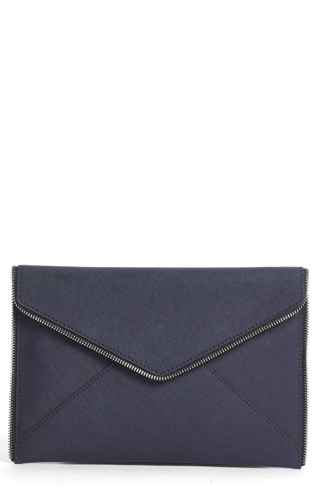 REBECCA MINKOFF 'Leo' Envelope Clutch, Main, color, 400
