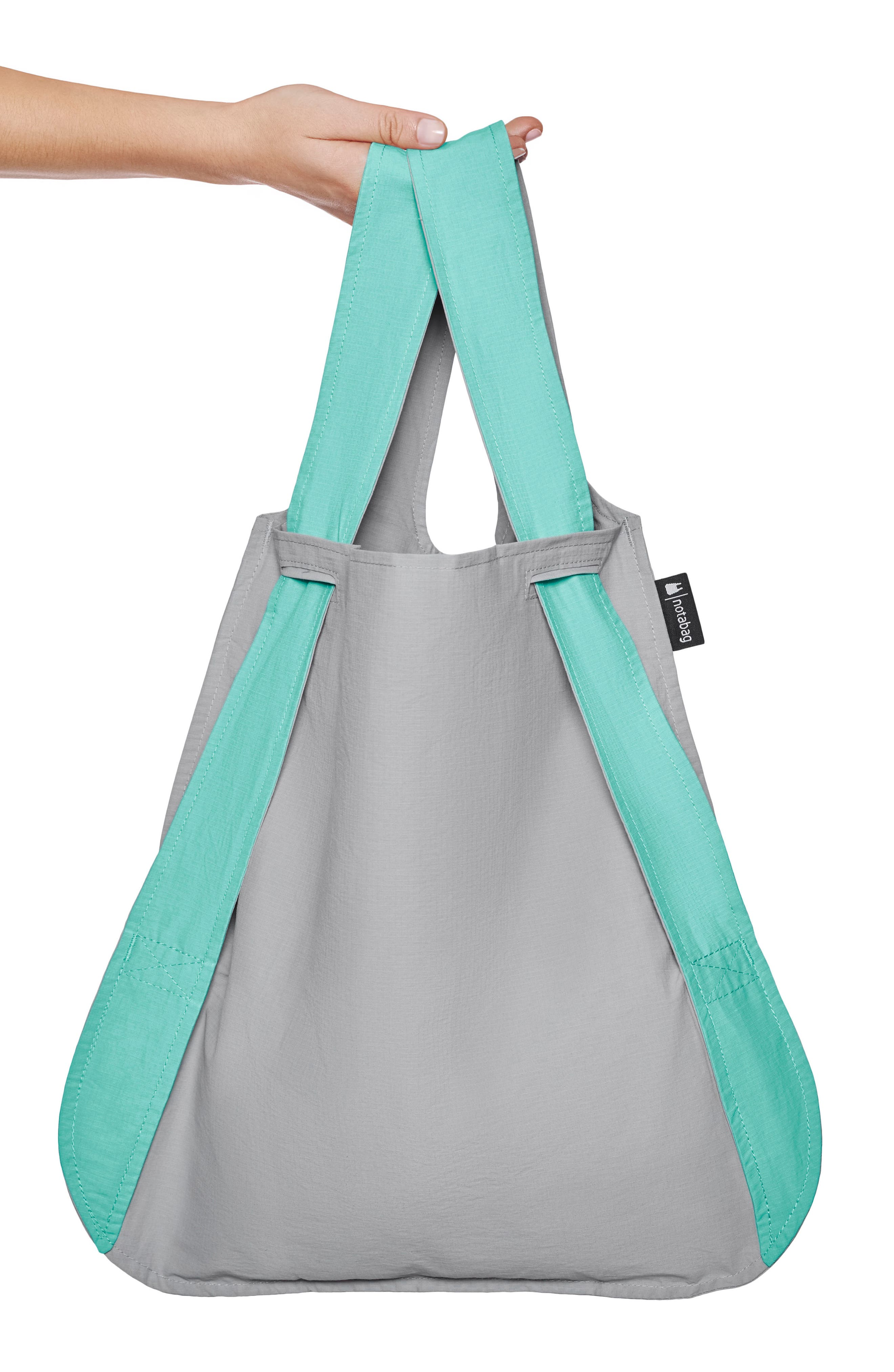 NOTABAG, Convertible Tote Backpack, Alternate thumbnail 4, color, MINT/ GREY
