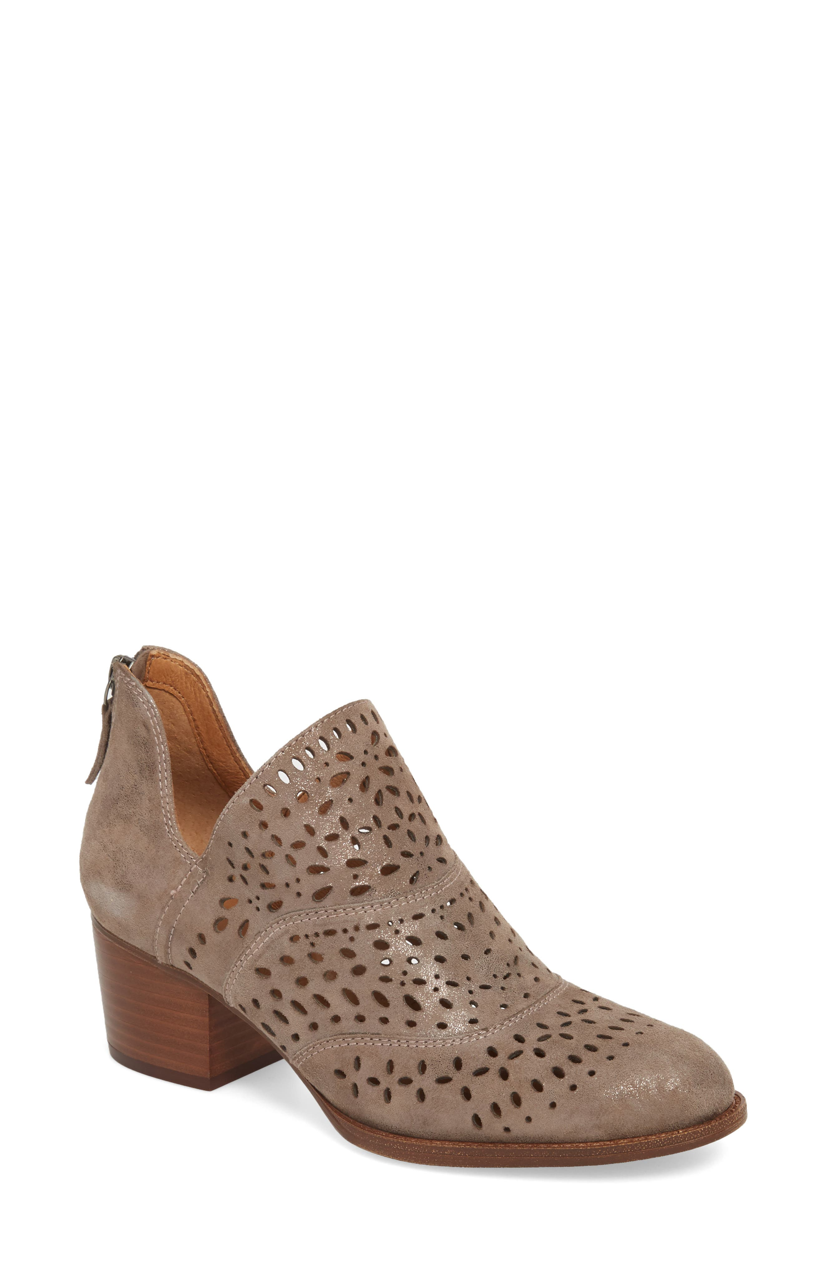 SÖFFT Wyoming Bootie, Main, color, SMOKE LEATHER