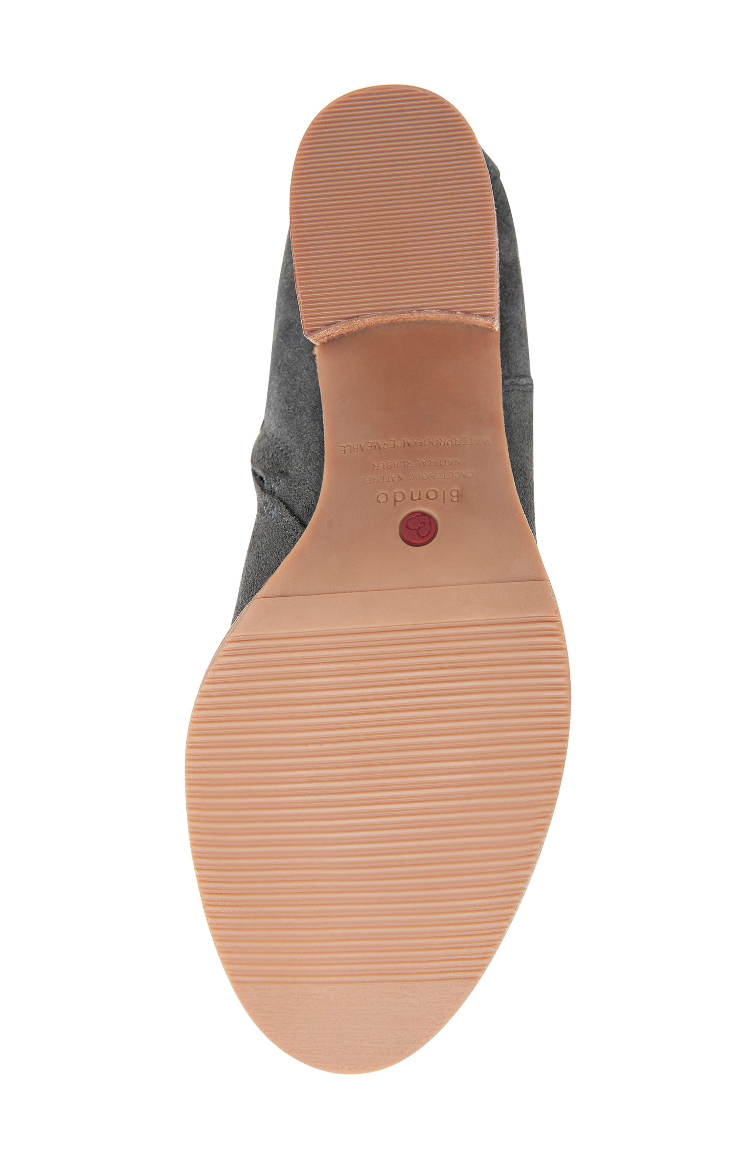 BLONDO, Nikki Waterproof Knee High Waterproof Boot, Alternate thumbnail 6, color, DARK GREY SUEDE