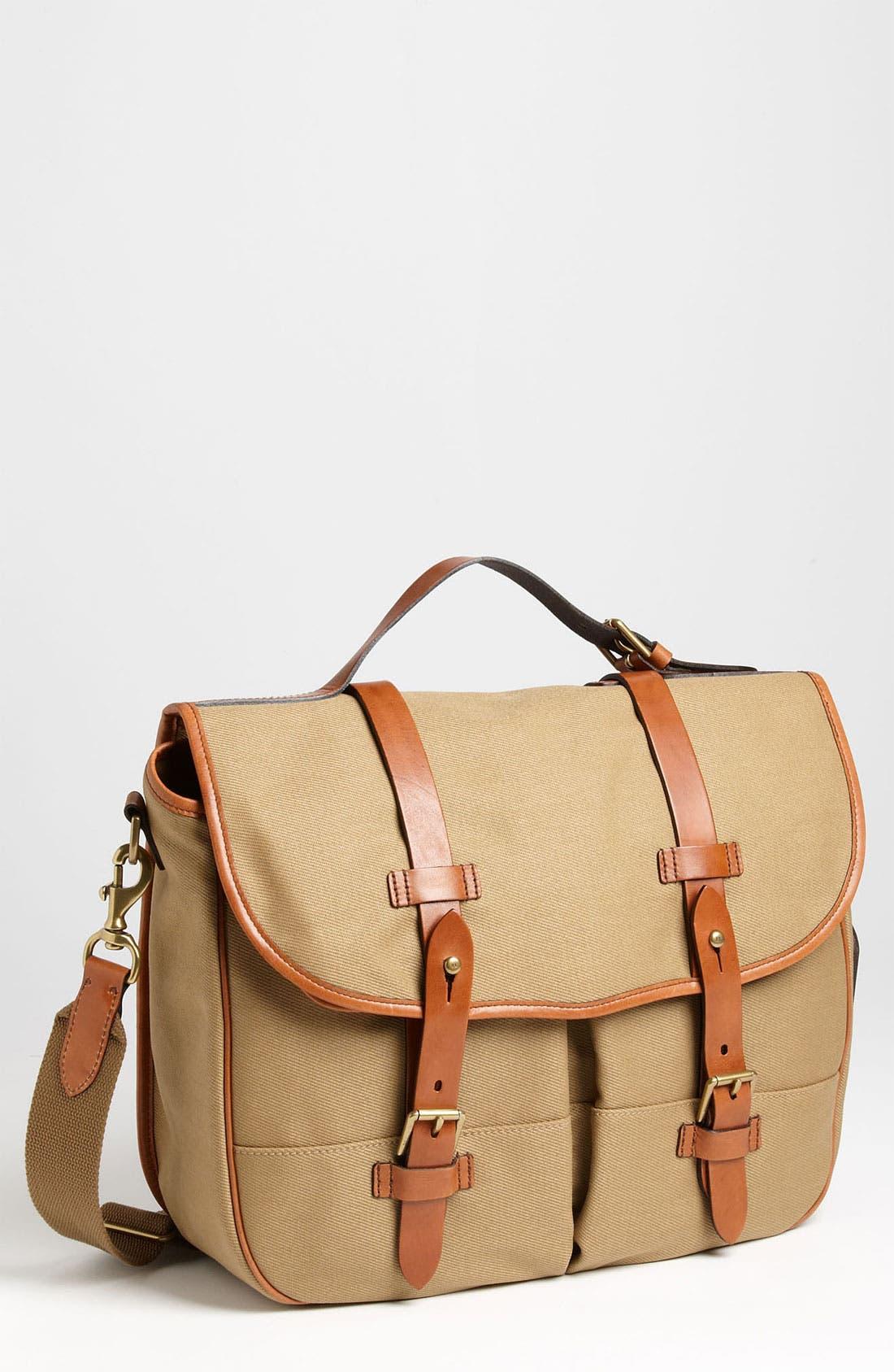 POLO RALPH LAUREN Canvas Messenger Bag, Main, color, 270