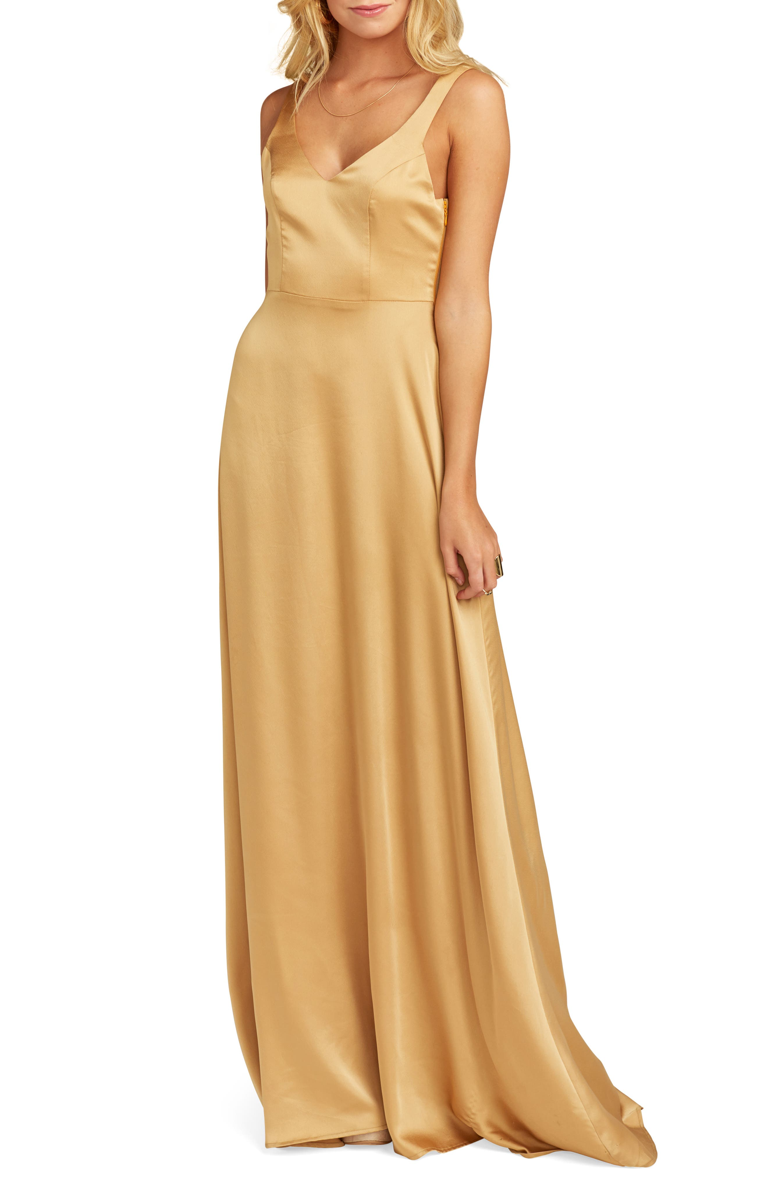 Show Me Your Mumu Jen Evening Dress, Yellow