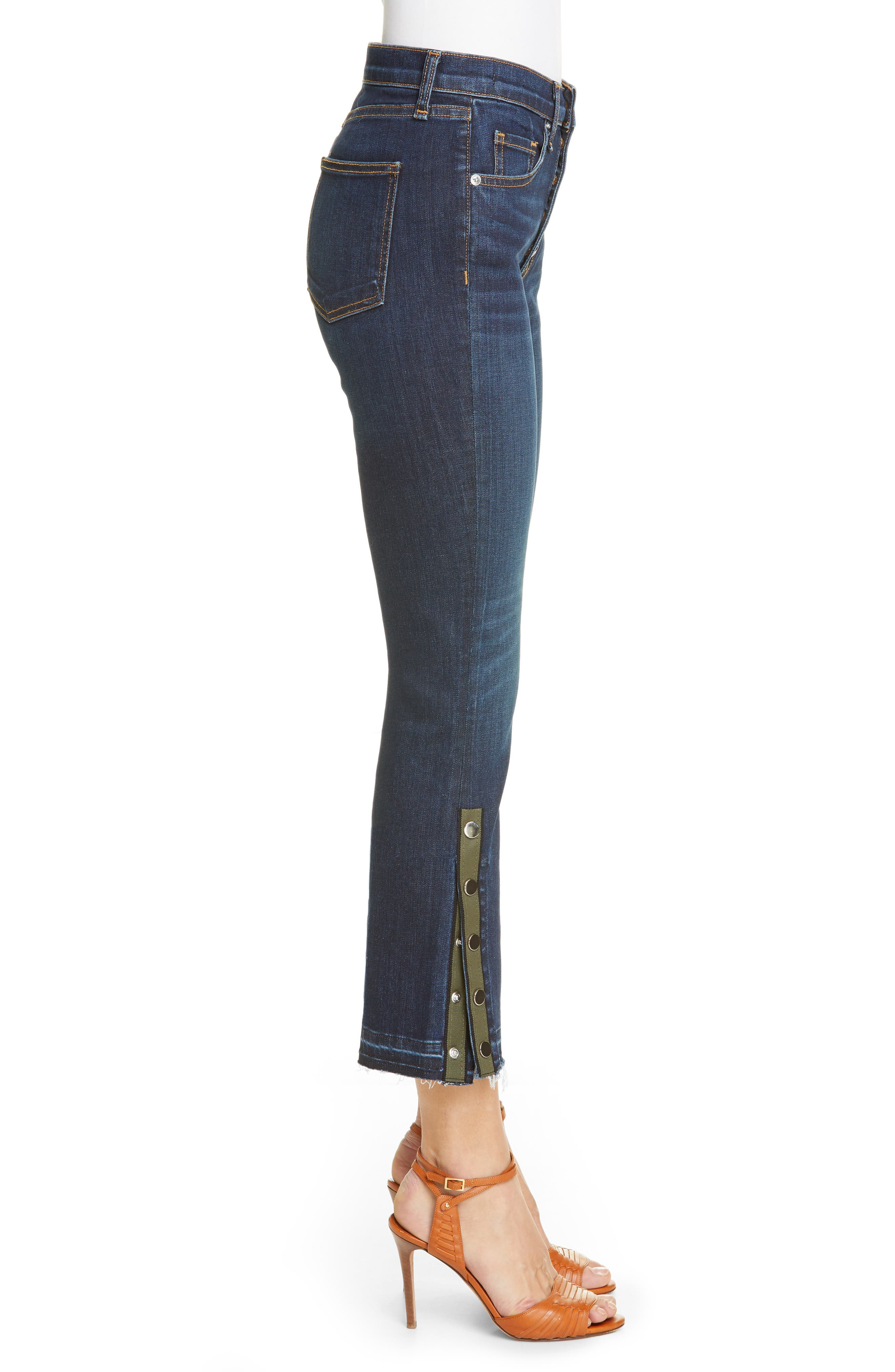 VERONICA BEARD, Carolyn Side Vent Baby Boot Jeans, Alternate thumbnail 4, color, DARK VINTAGE