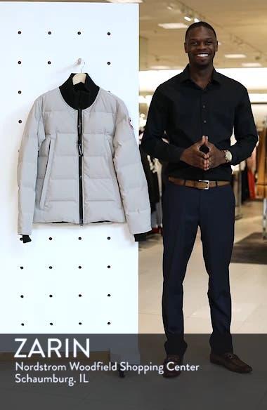 'Woolford' Slim Fit Down Bomber Jacket, sales video thumbnail