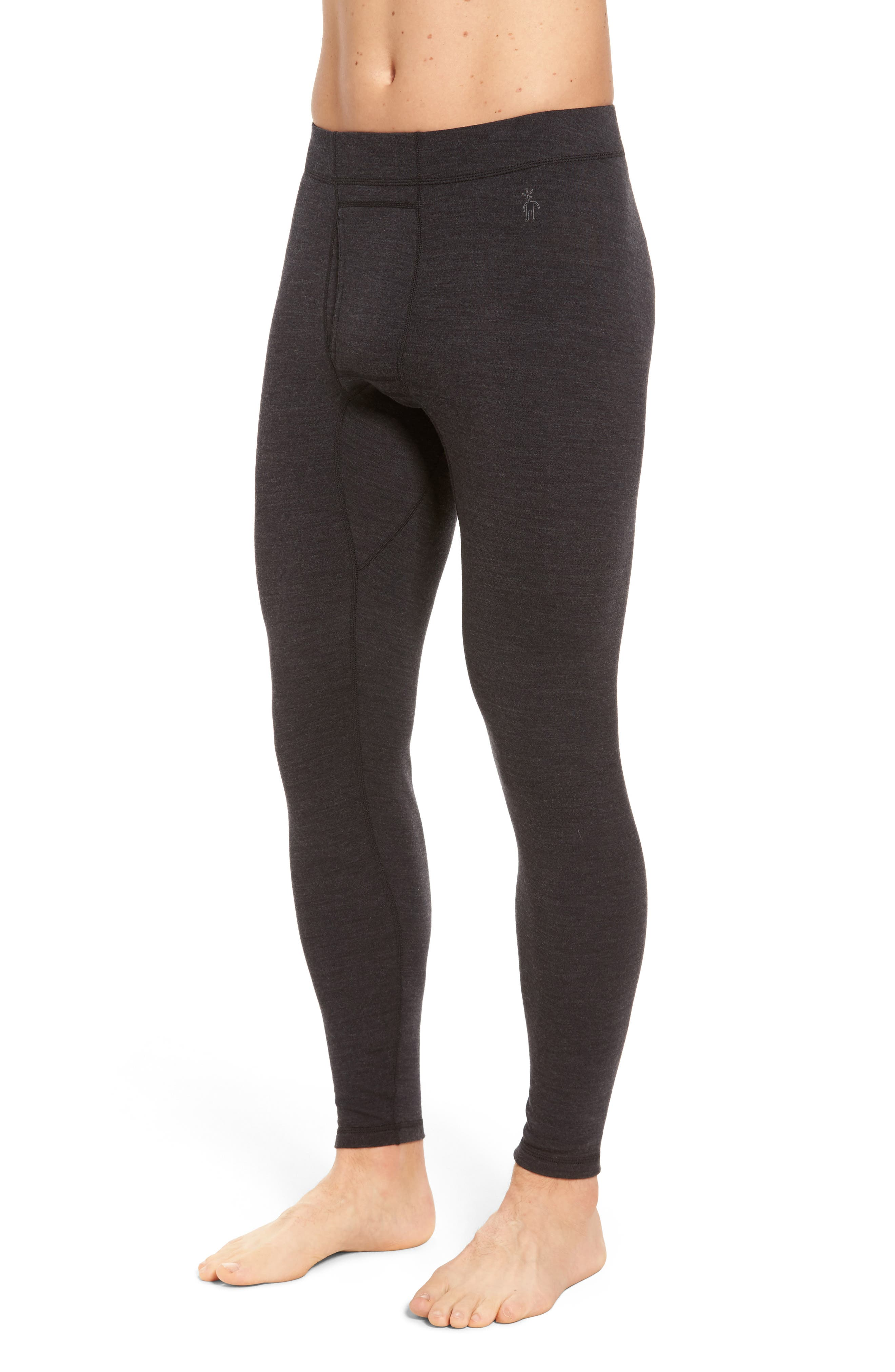 SMARTWOOL, Merino 250 Base Layer Bottoms, Alternate thumbnail 3, color, CHARCOAL HEATHER