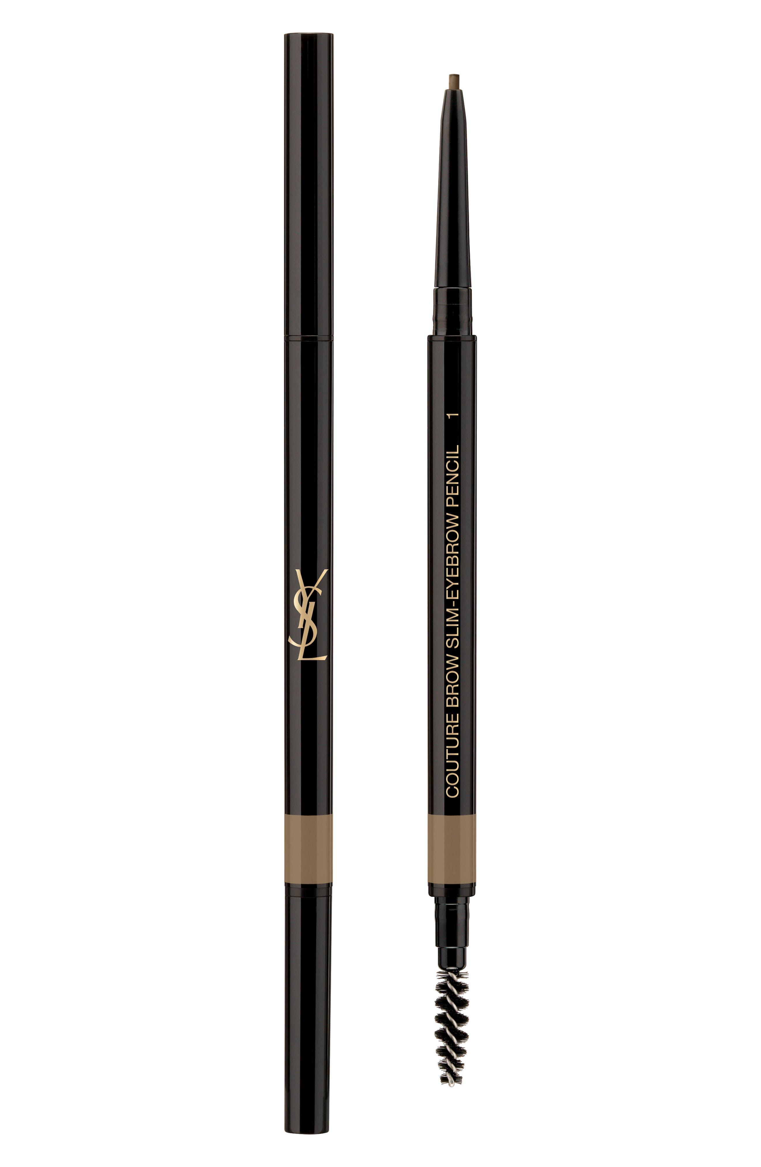 YVES SAINT LAURENT, Couture Brow Slim Eyebrow Pencil, Main thumbnail 1, color, 01 ASH BROWN