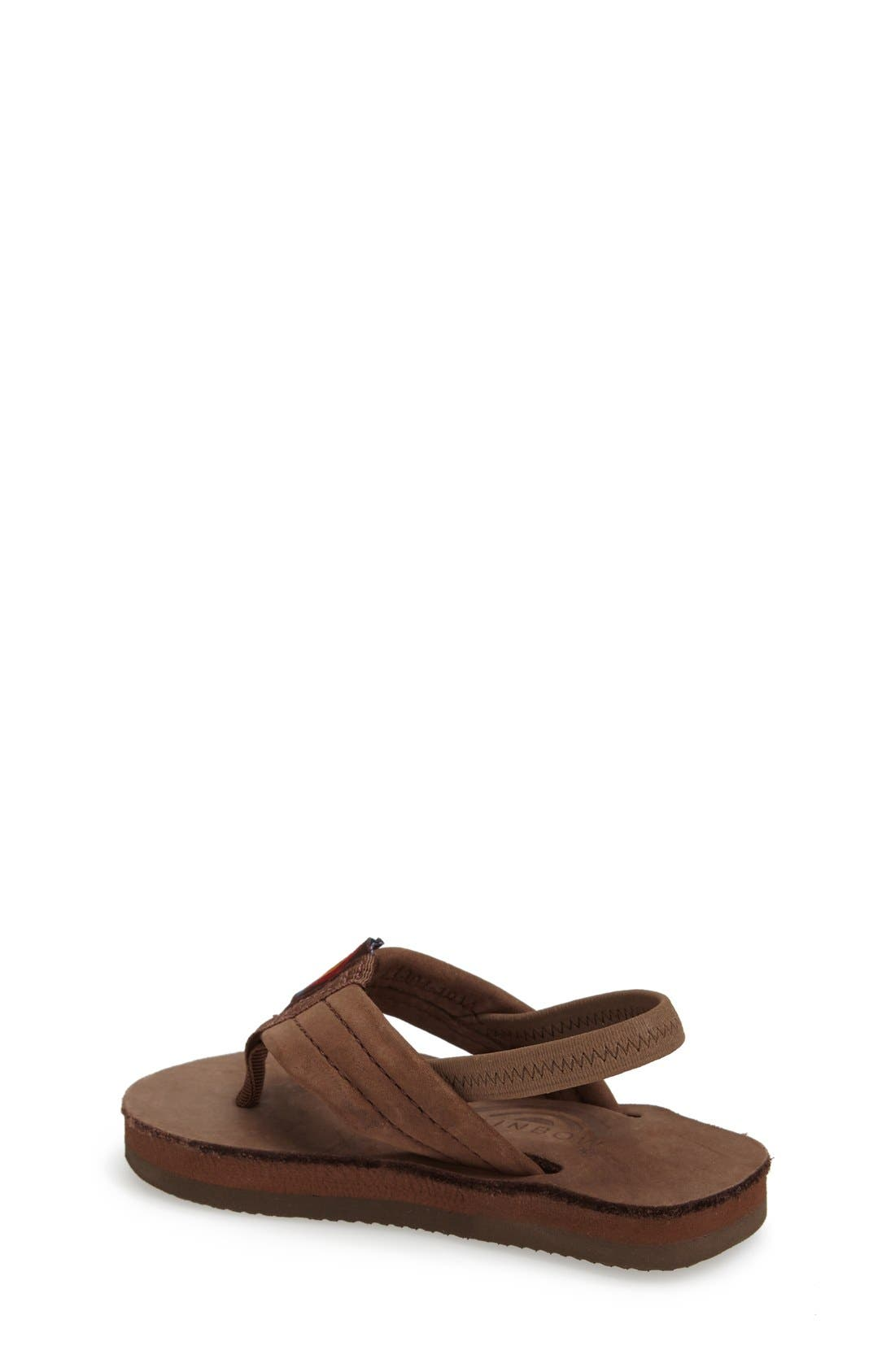 RAINBOW<SUP>®</SUP>, Rainbow Leather Sandal, Alternate thumbnail 7, color, EXPRESSO