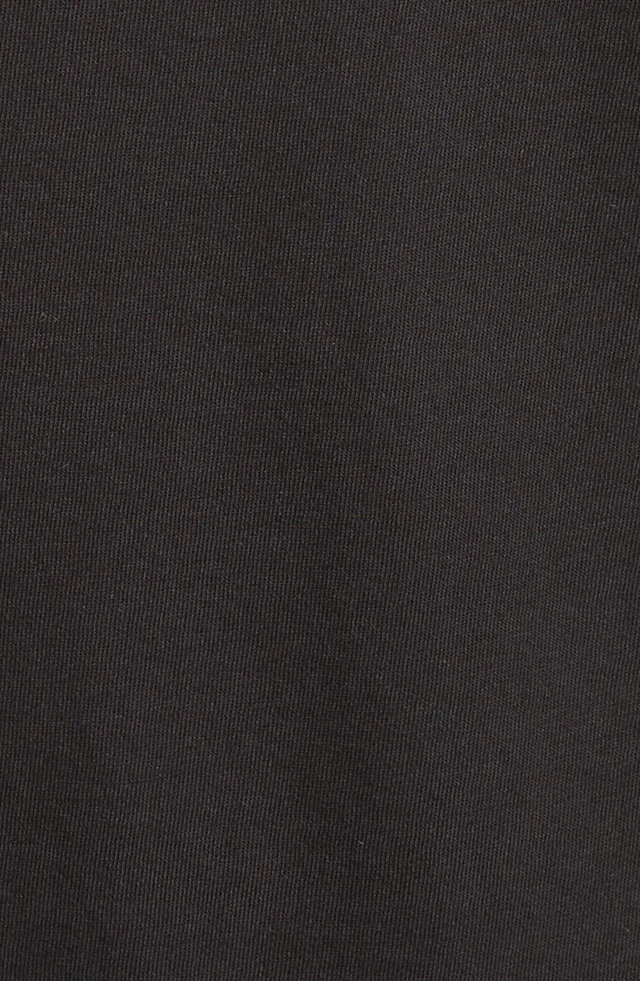ADAM LIPPES, Crewneck Tee, Alternate thumbnail 5, color, BLACK