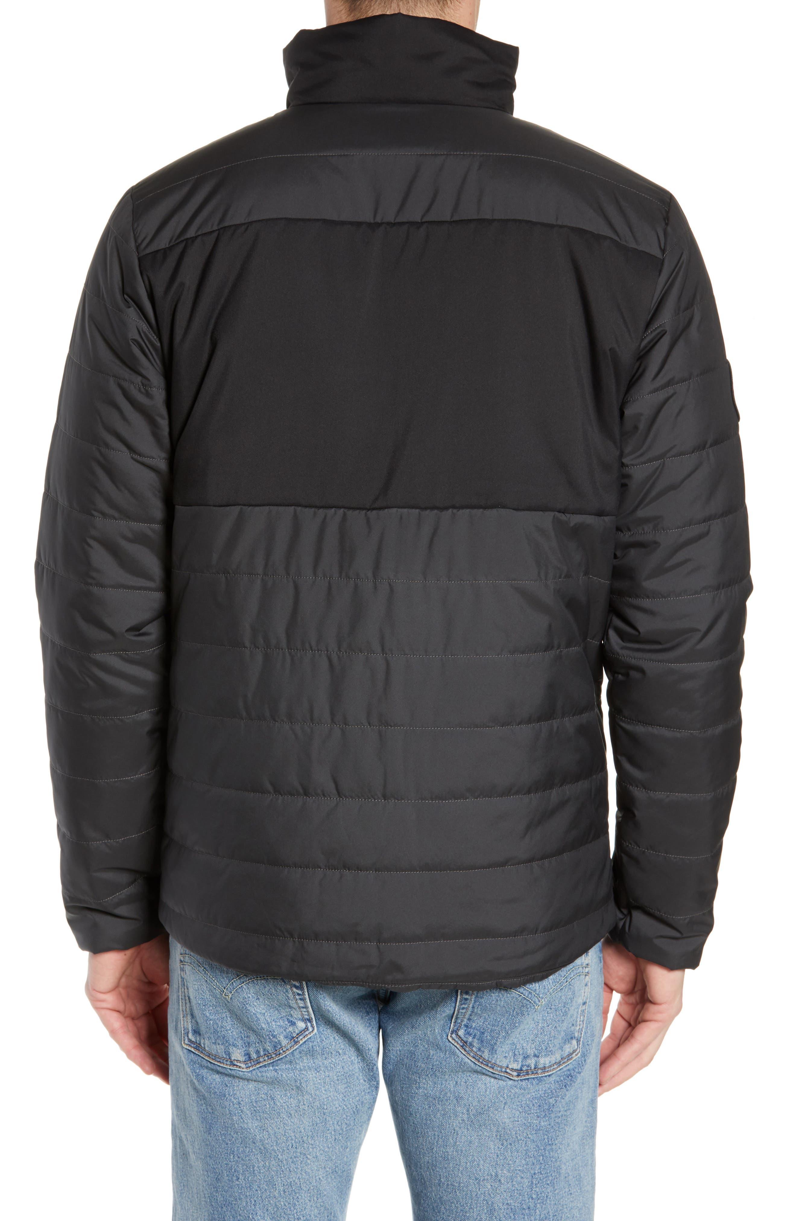 THE NORTH FACE, Insulated Jacket, Alternate thumbnail 2, color, TNF BLACK/ ASPHALT GREY