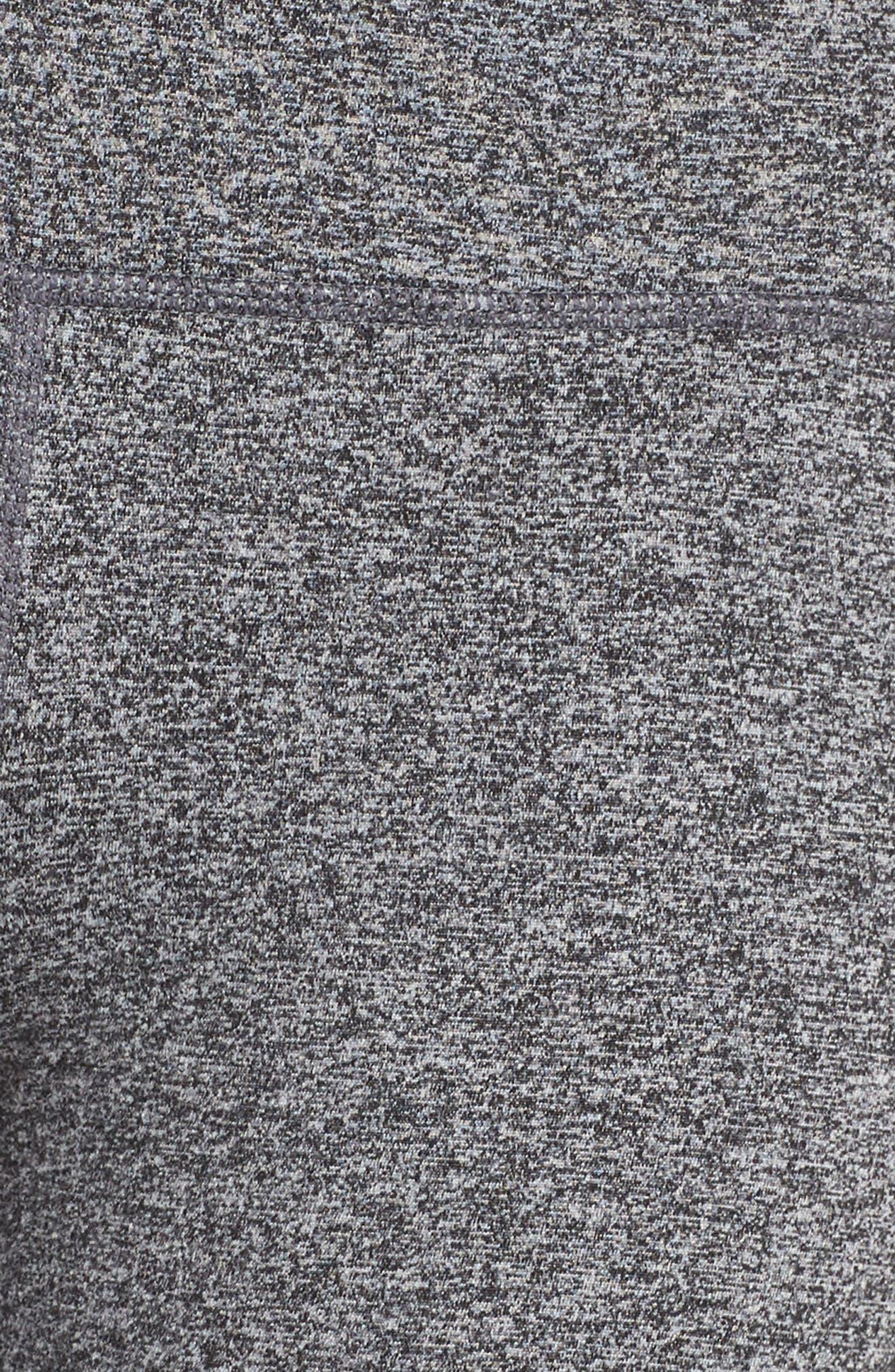 ZELLA, Ultrasoft Recycled High Waist Leggings, Alternate thumbnail 6, color, BLACK