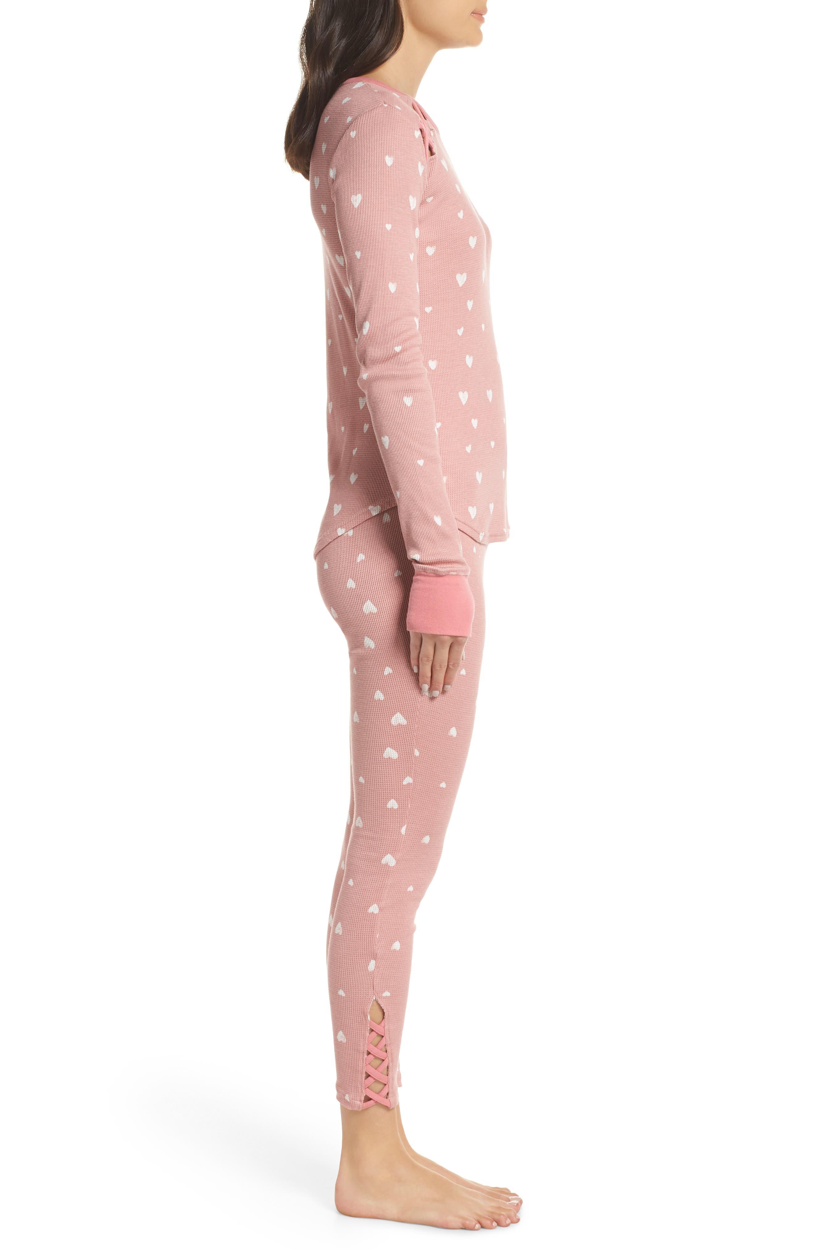 RETROSPECTIVE CO., Thermal Pajamas, Alternate thumbnail 3, color, 650