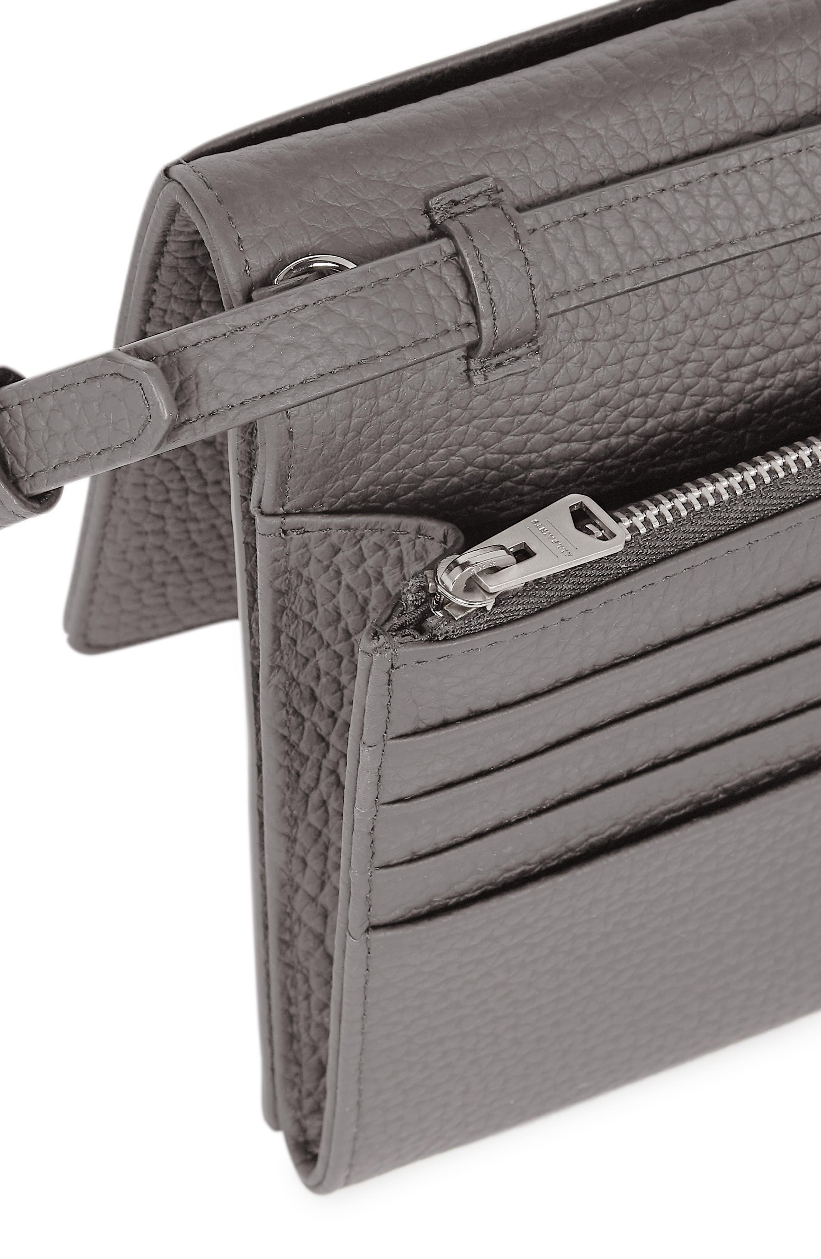 ALLSAINTS, Fetch Crossbody Bag, Alternate thumbnail 3, color, STORM GREY