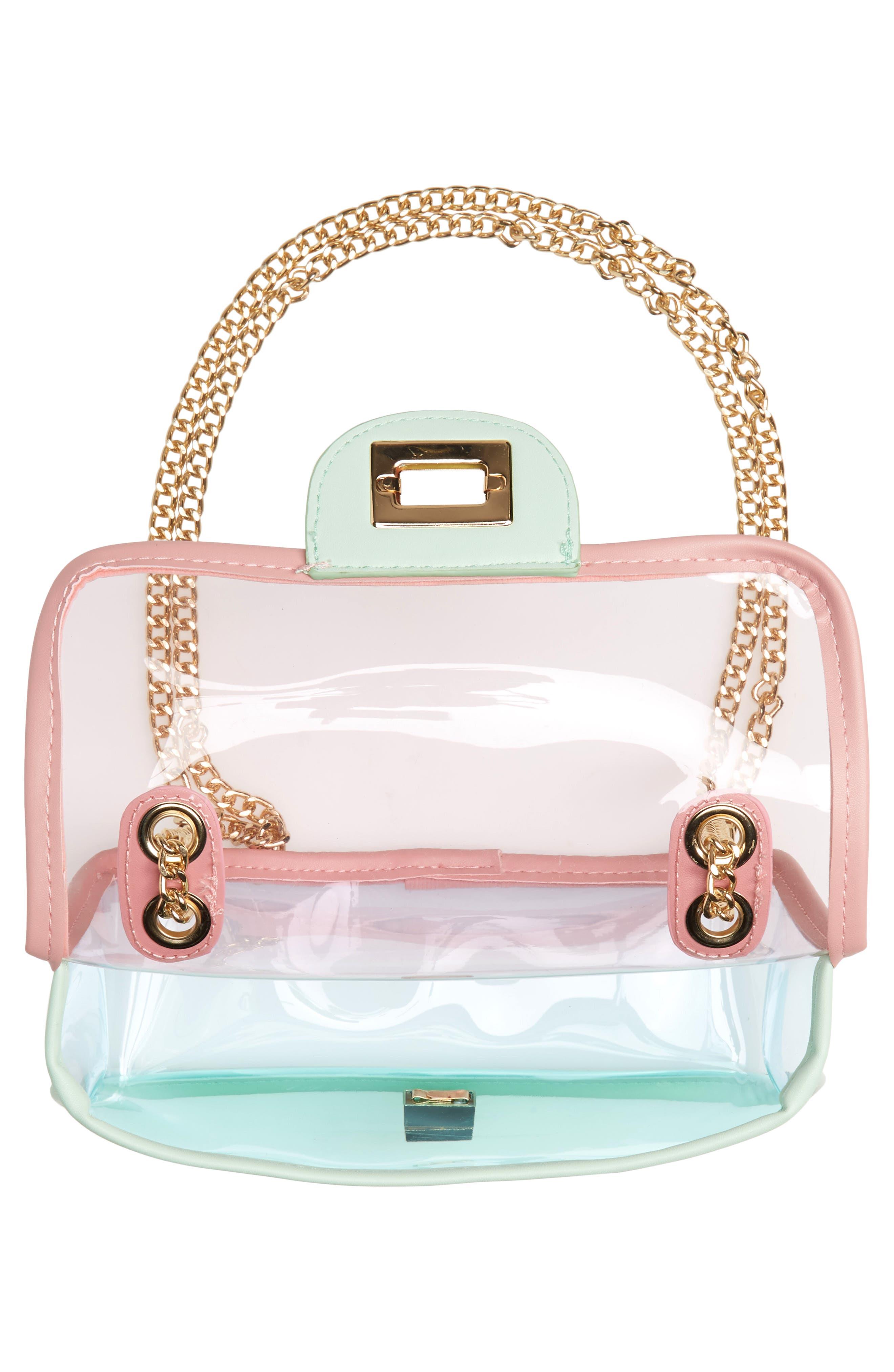 JANE & BERRY, Transparent Crossbody Bag, Alternate thumbnail 6, color, PINK MULTI