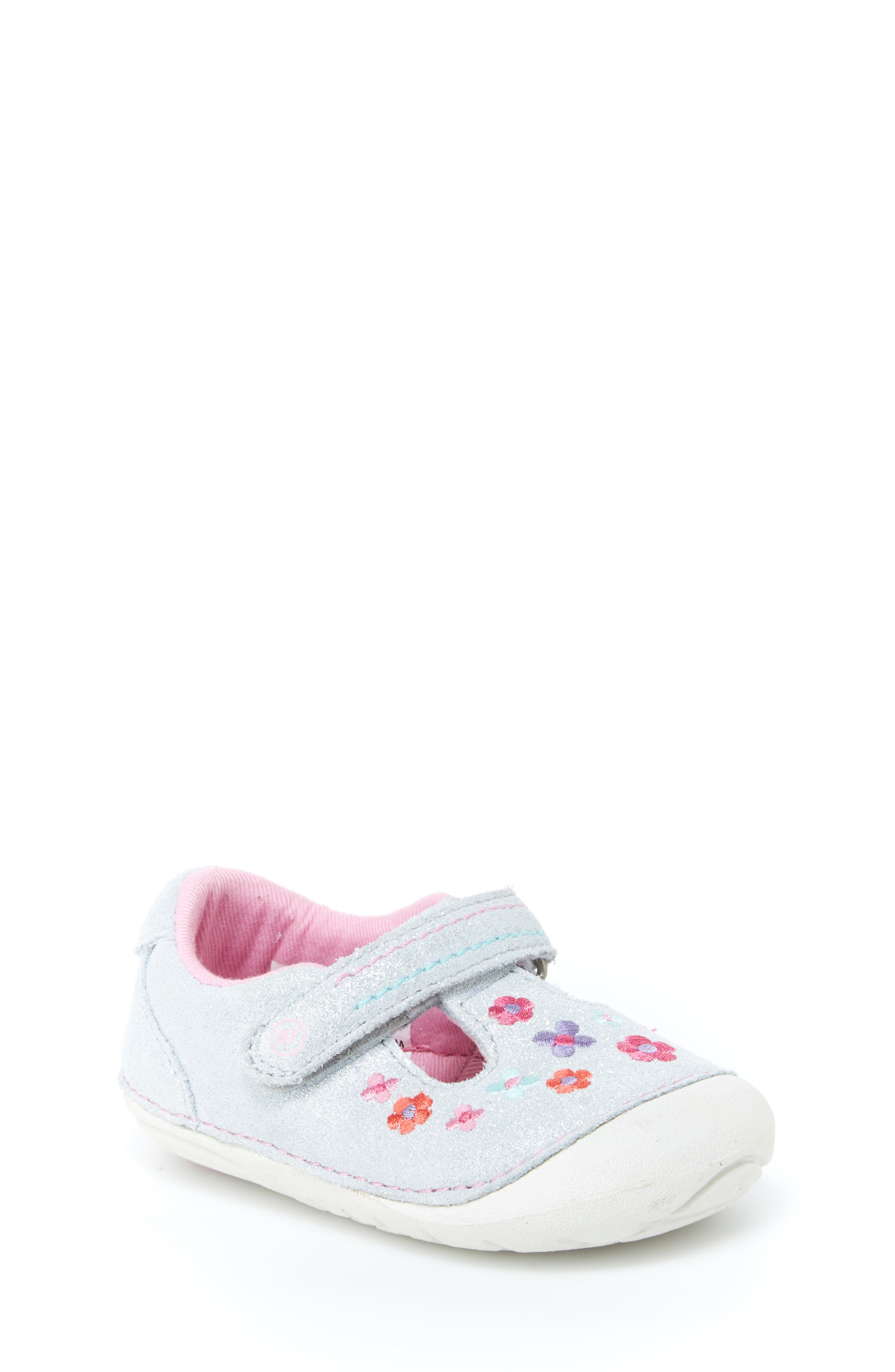 STRIDE RITE Soft Motion<sup>™</sup> Tonia T-Strap Mary Jane, Main, color, SILVER
