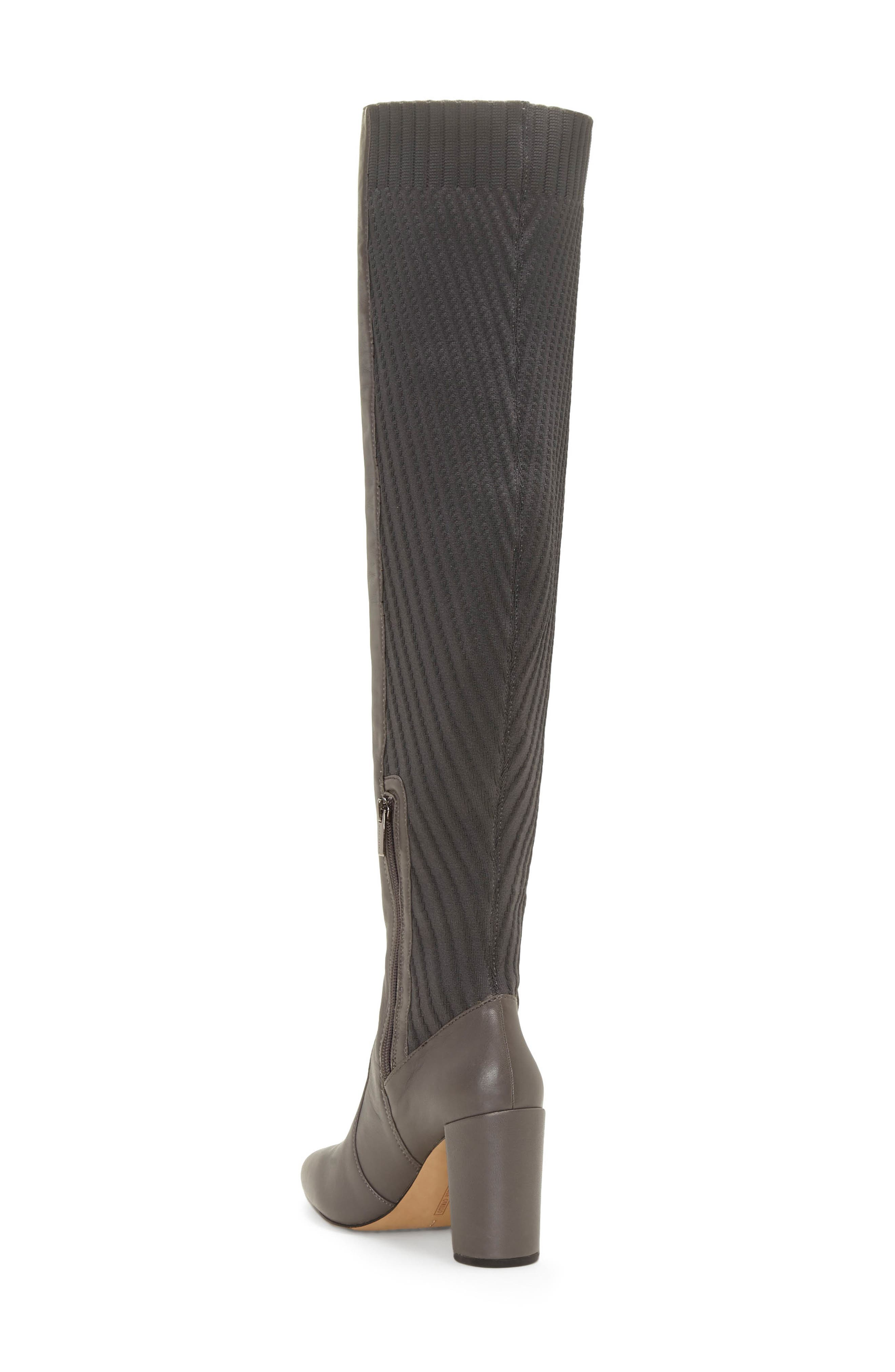 VINCE CAMUTO, Majestie Over the Knee Boot, Alternate thumbnail 2, color, THUNDER LEATHER