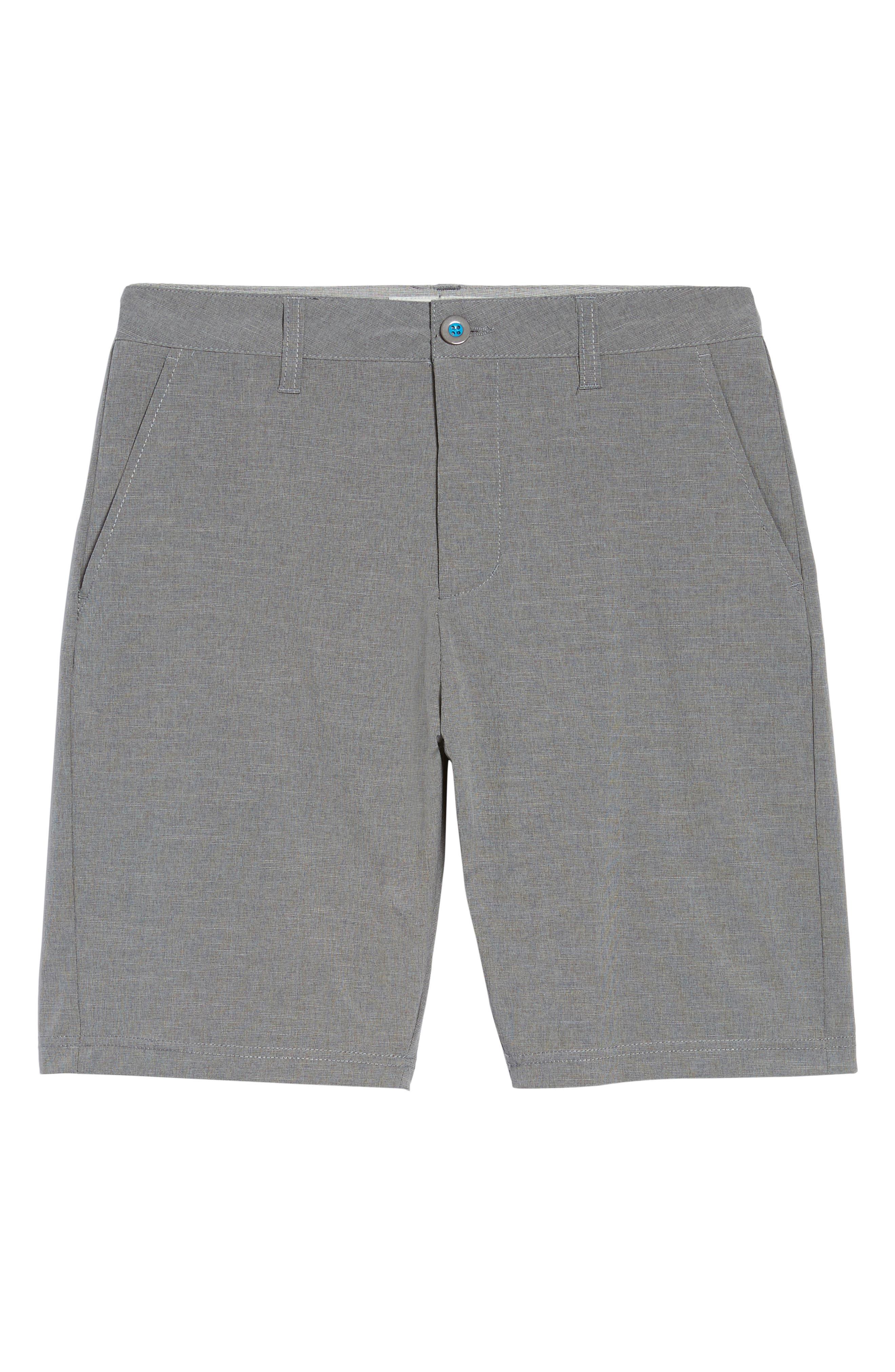 DEVEREUX, Cruiser Hybrid Shorts, Alternate thumbnail 6, color, CHARCOAL