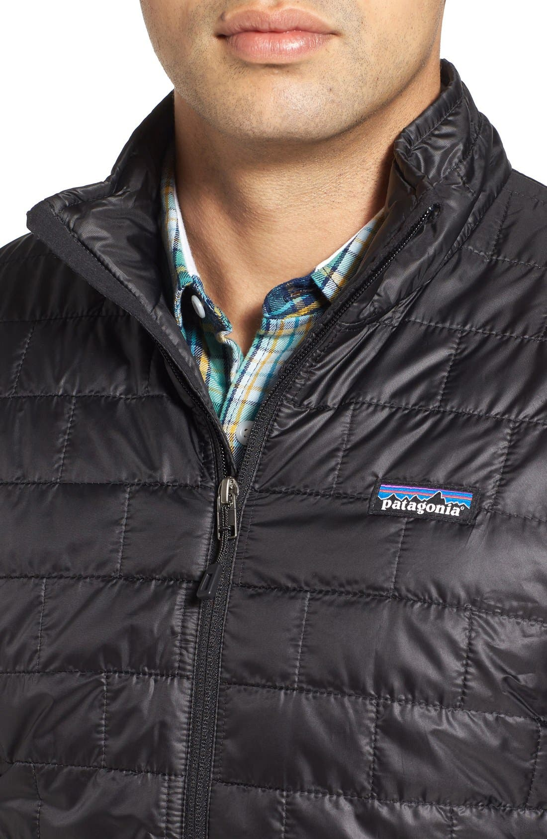 PATAGONIA, 'Nano Puff<sup>®</sup>' Water Resistant Jacket, Alternate thumbnail 7, color, BLACK