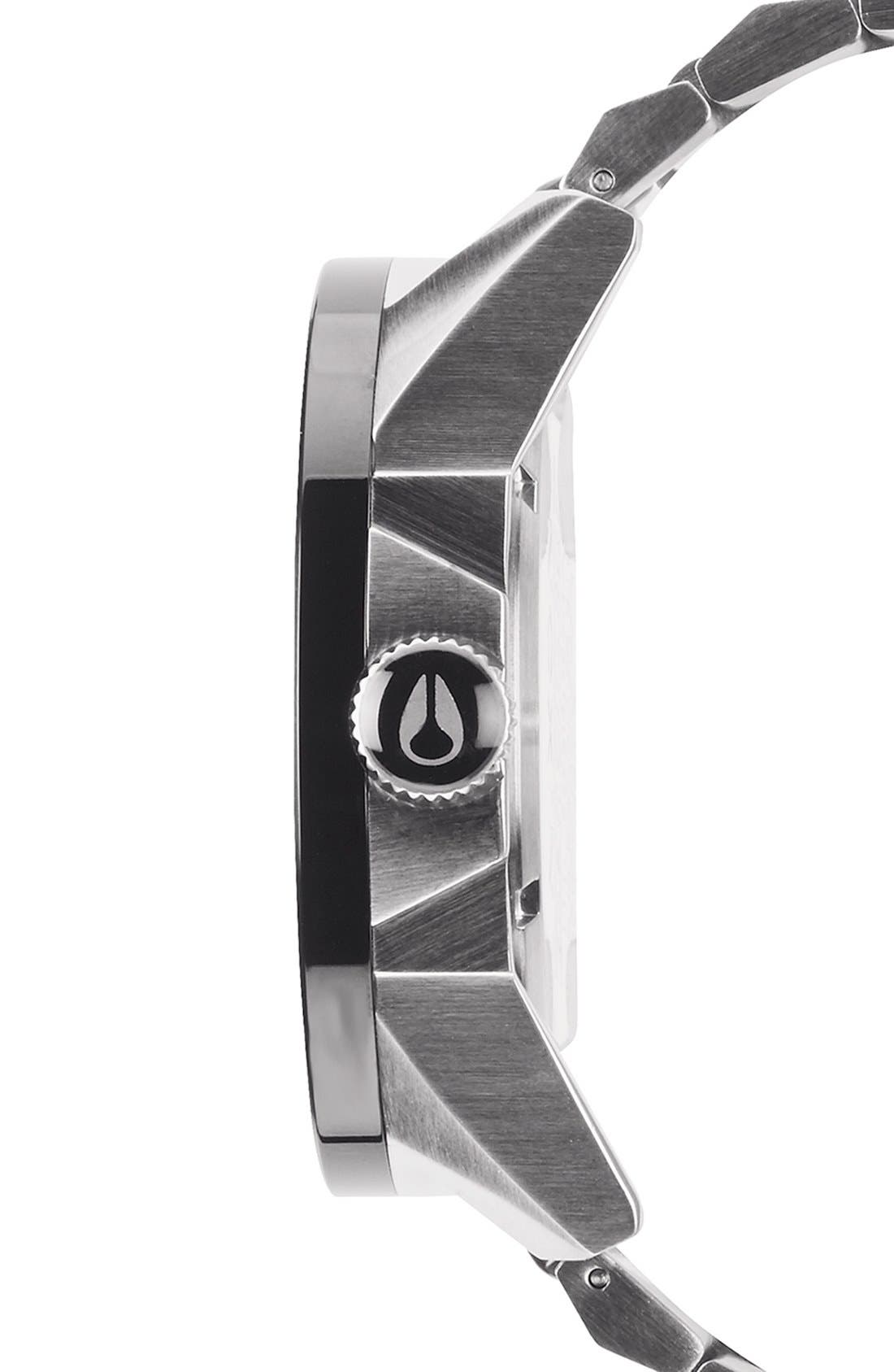 NIXON, 'The Corporal' Bracelet Watch, 48mm, Alternate thumbnail 2, color, SILVER/ GUNMETAL