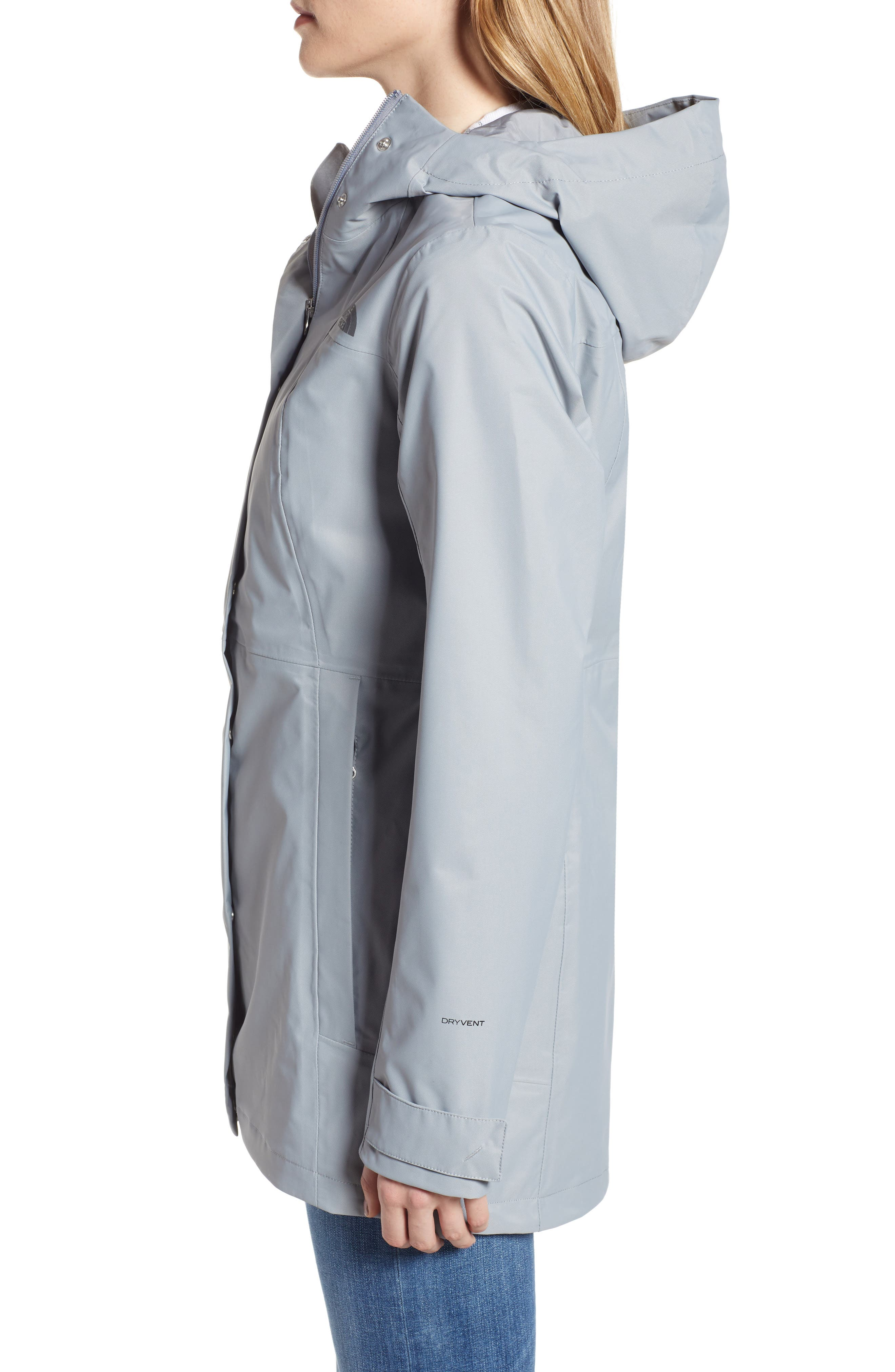 THE NORTH FACE, City Midi Trench Coat, Alternate thumbnail 4, color, MID GREY
