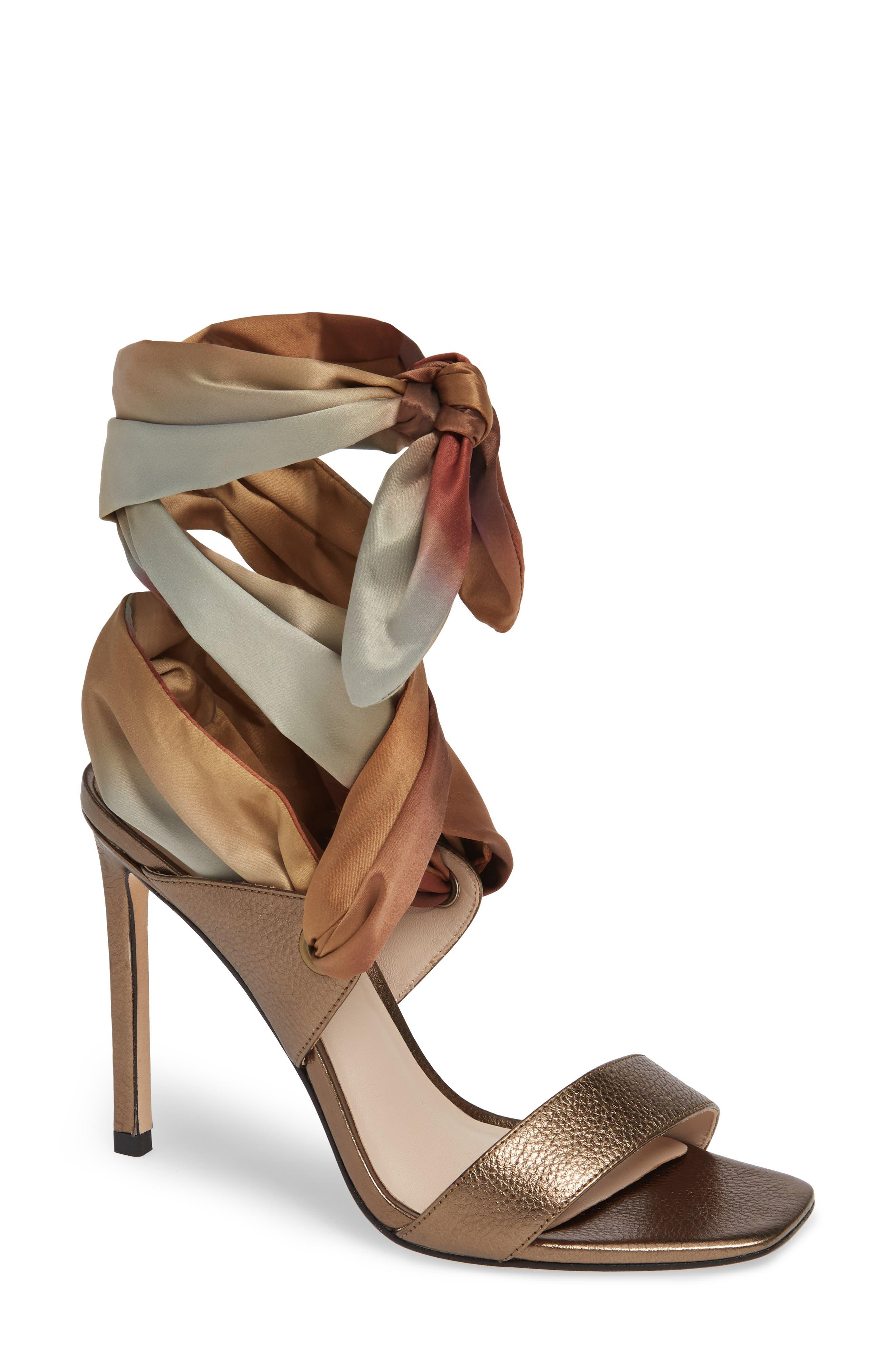 Paige Vanna Ombre Wraparound Sandal- Metallic