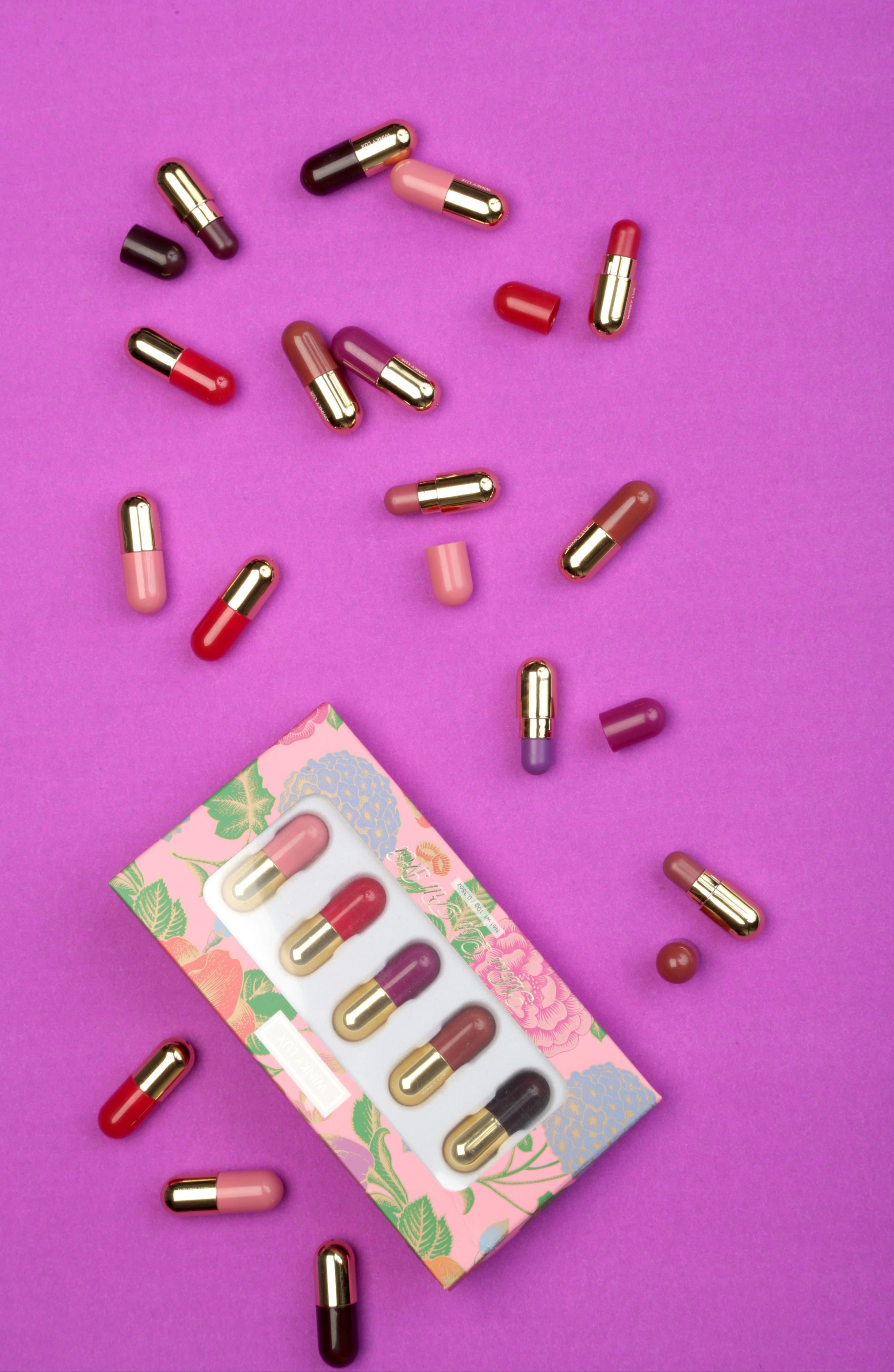 WINKY LUX, Mini Lip Pill Kit, Alternate thumbnail 5, color, NO COLOR