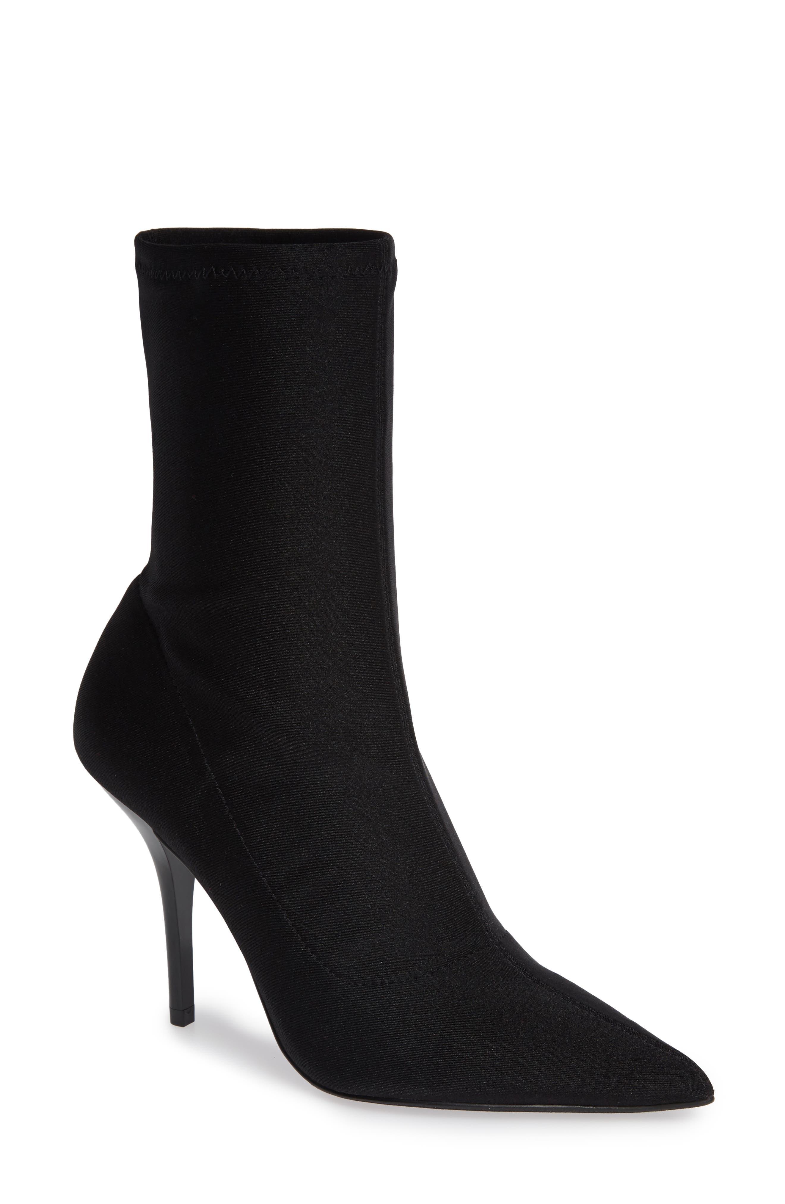 Calvin Klein Mada Stretch Bootie- Black