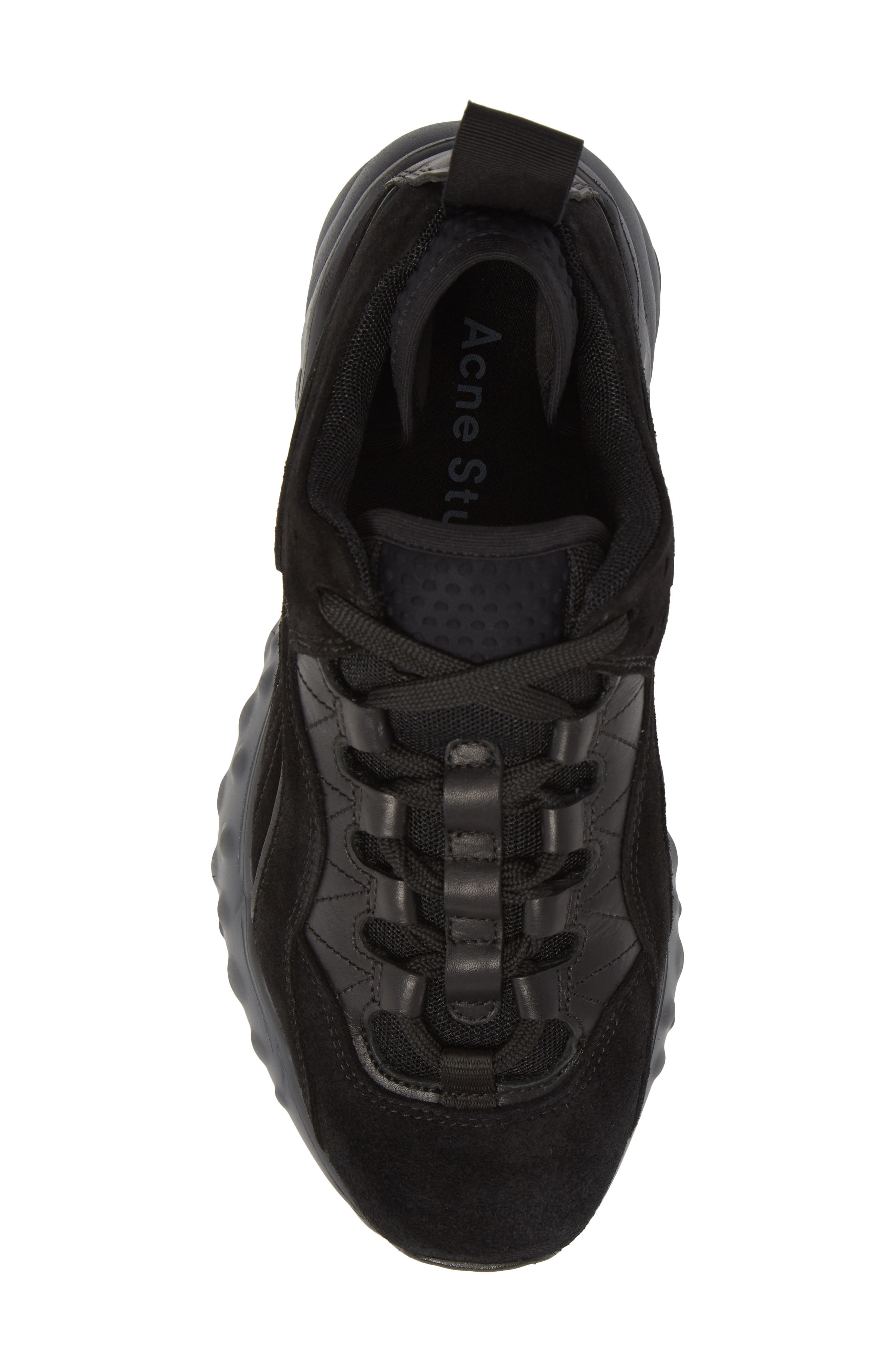 ACNE STUDIOS, Manhattan Sneaker, Alternate thumbnail 5, color, MULTI BLACK