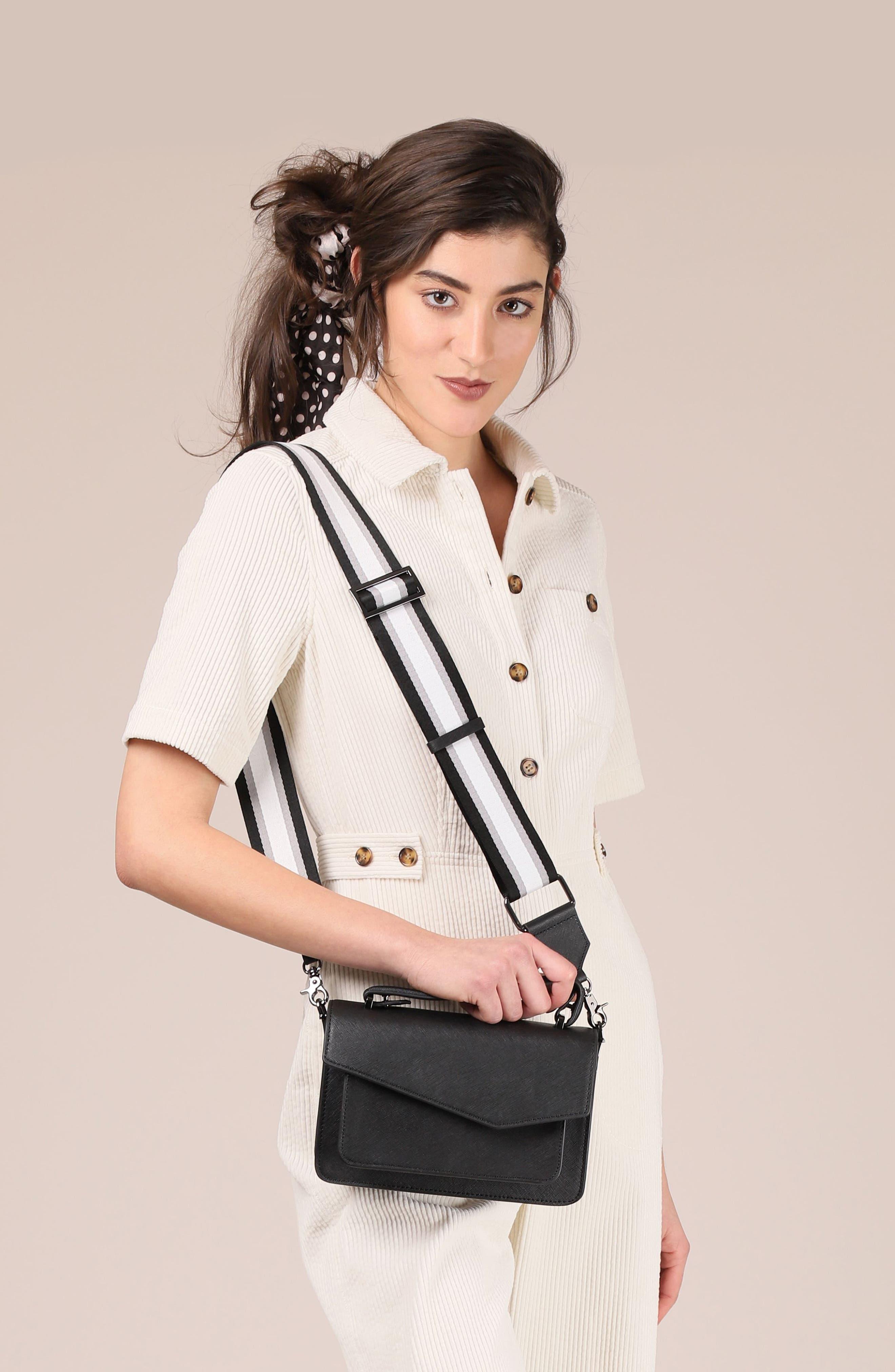 BOTKIER, Cobble Hill Leather Crossbody Bag, Alternate thumbnail 2, color, BLACK