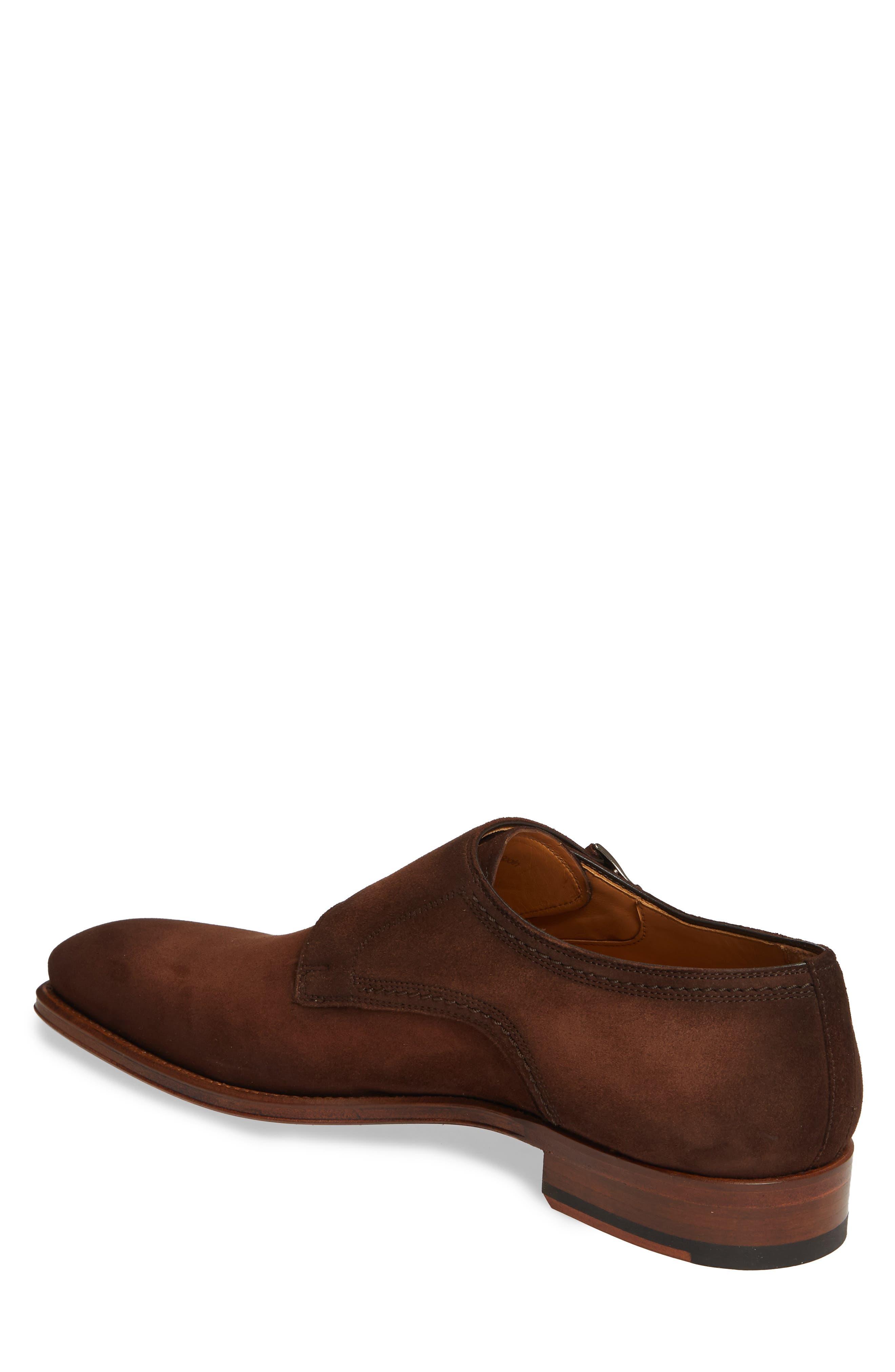 MAGNANNI, Landon Double Strap Monk Shoe, Alternate thumbnail 2, color, MID BROWN