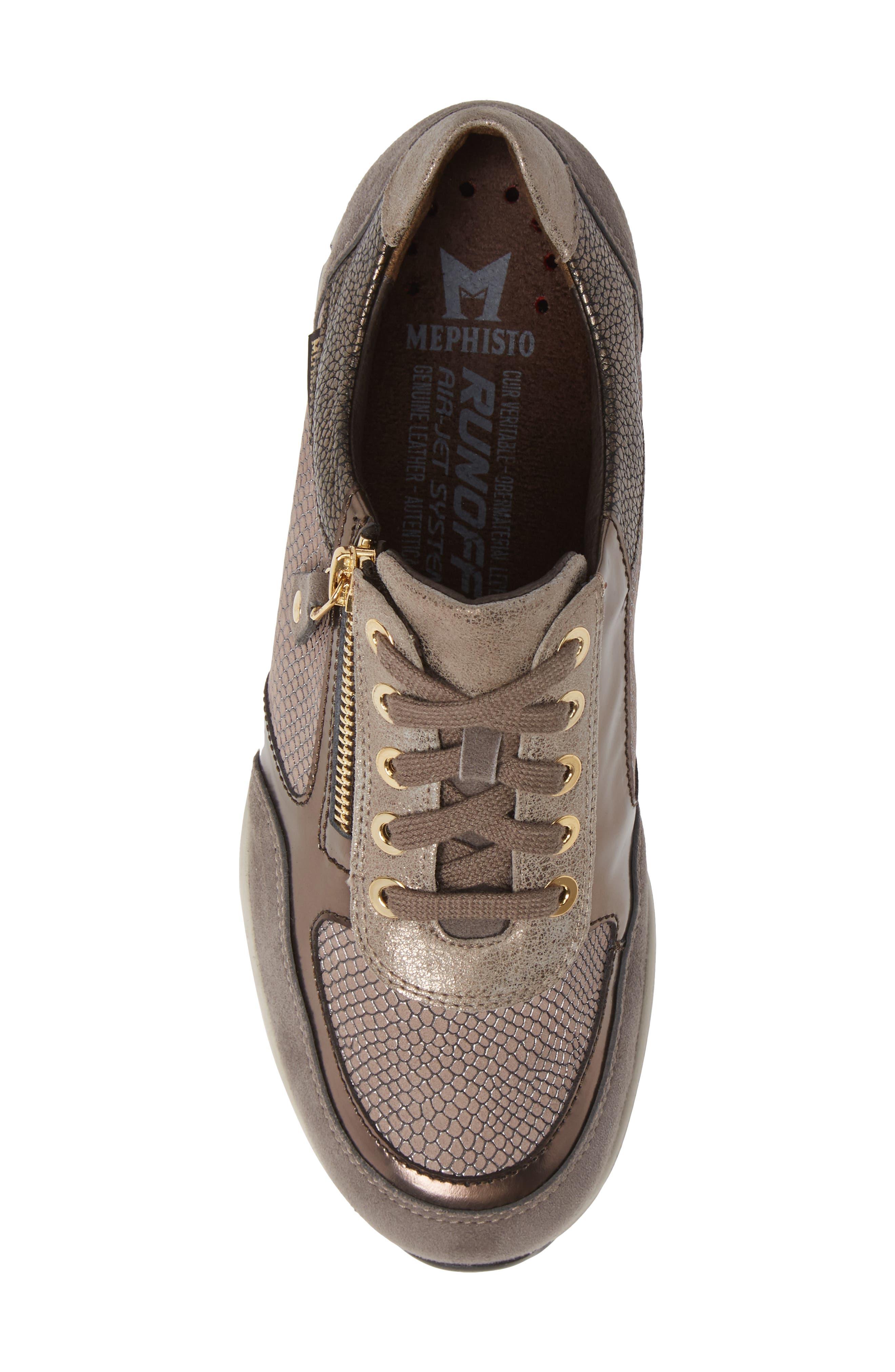 MEPHISTO, Ylona Sneaker, Alternate thumbnail 5, color, DARK GREY SUEDE