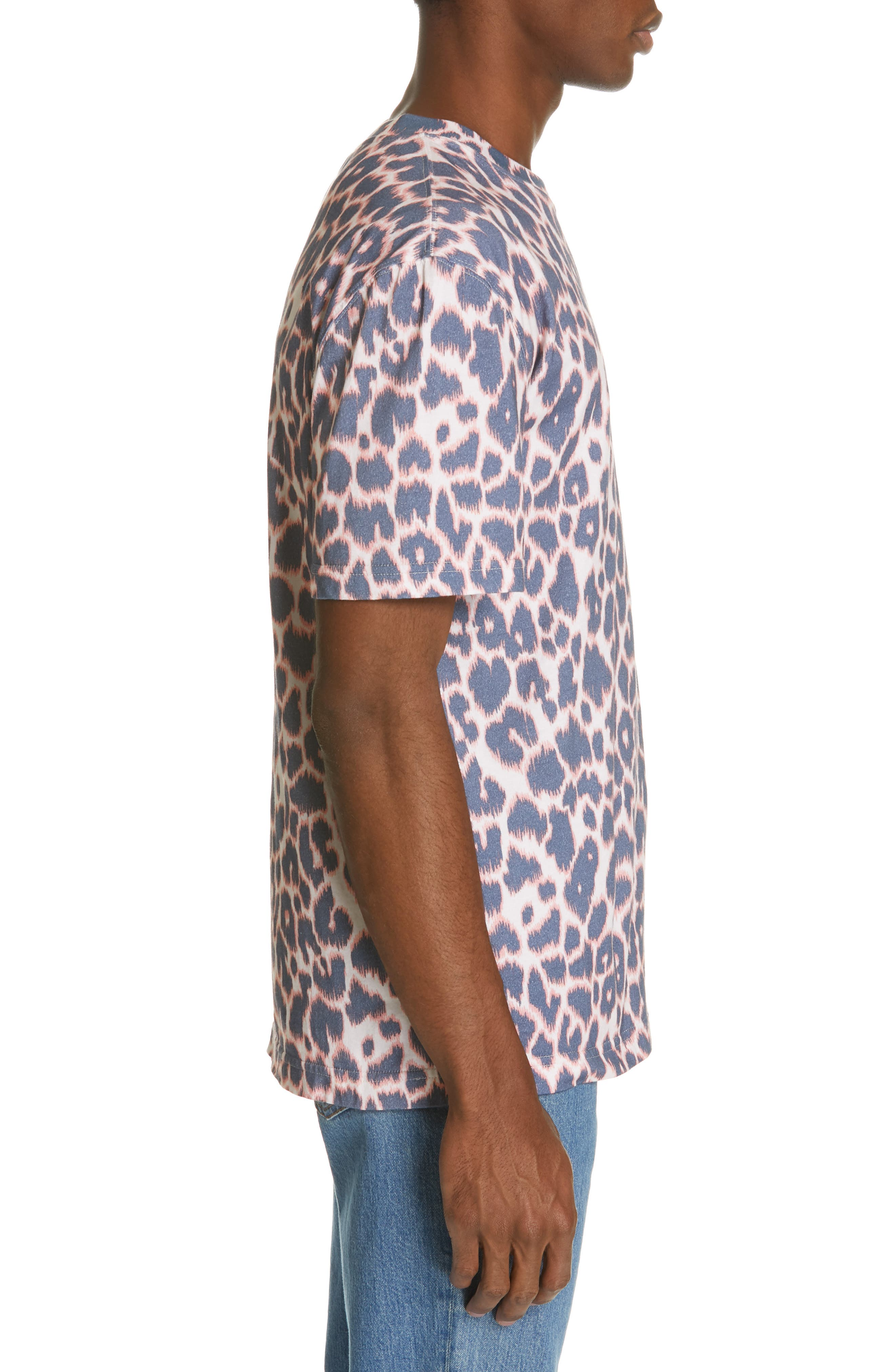 CALVIN KLEIN 205W39NYC, Electric Panther Print T-Shirt, Alternate thumbnail 3, color, ELECTRIC PANTHERE