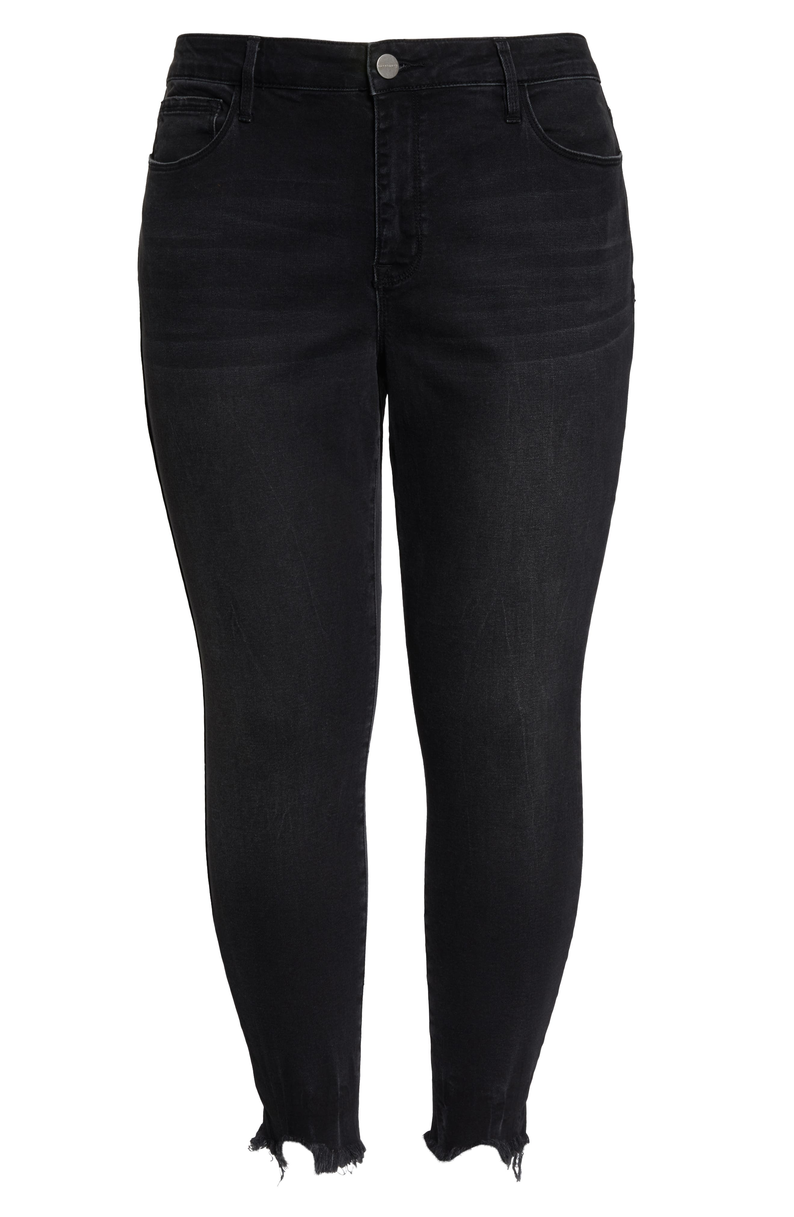 SANCTUARY, Social Standard High Rise Ankle Skinny Jeans, Alternate thumbnail 2, color, 001