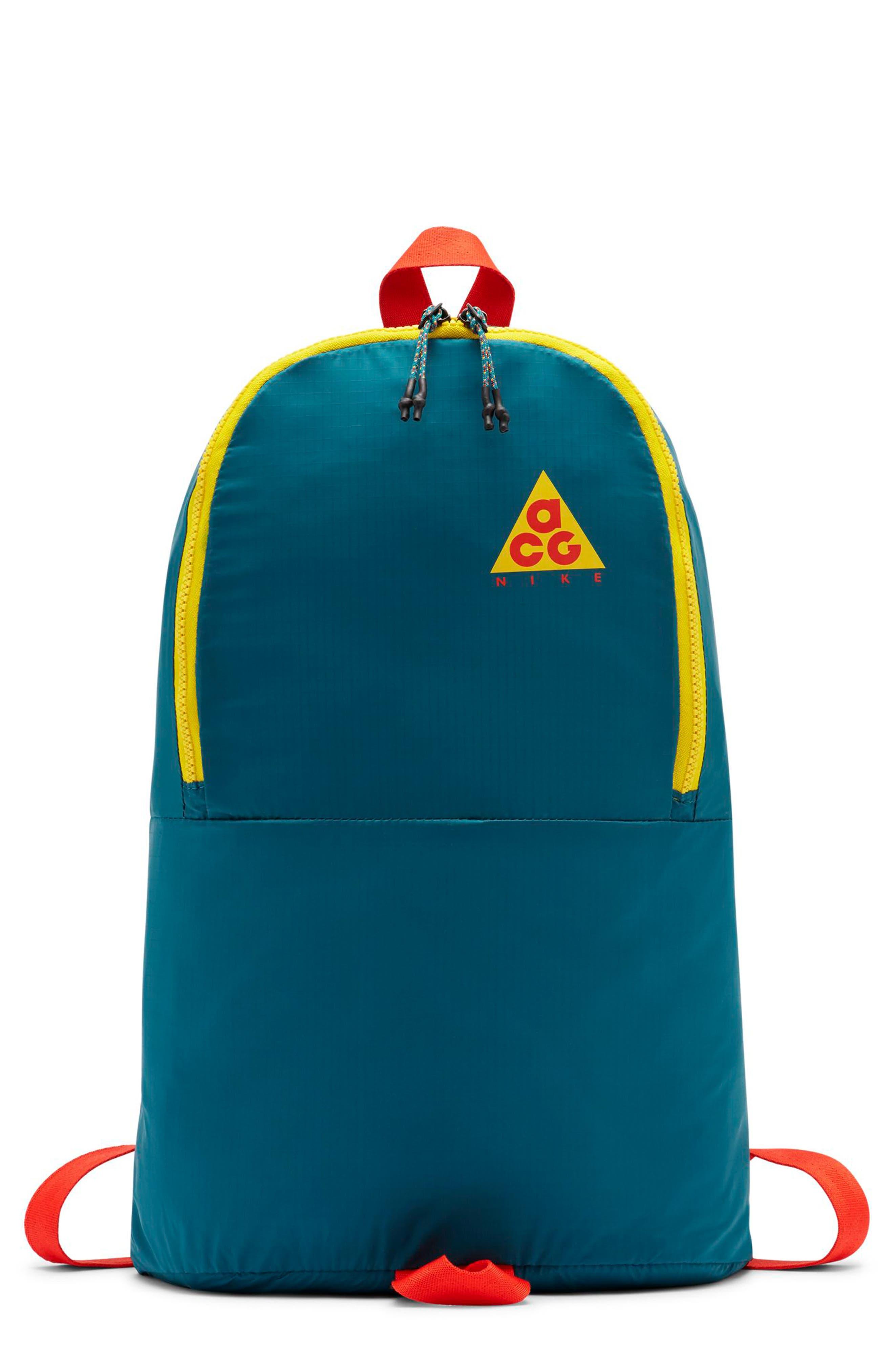 NIKE ACG Packable Backpack, Main, color, GEODE TEAL/ GEODE TEAL