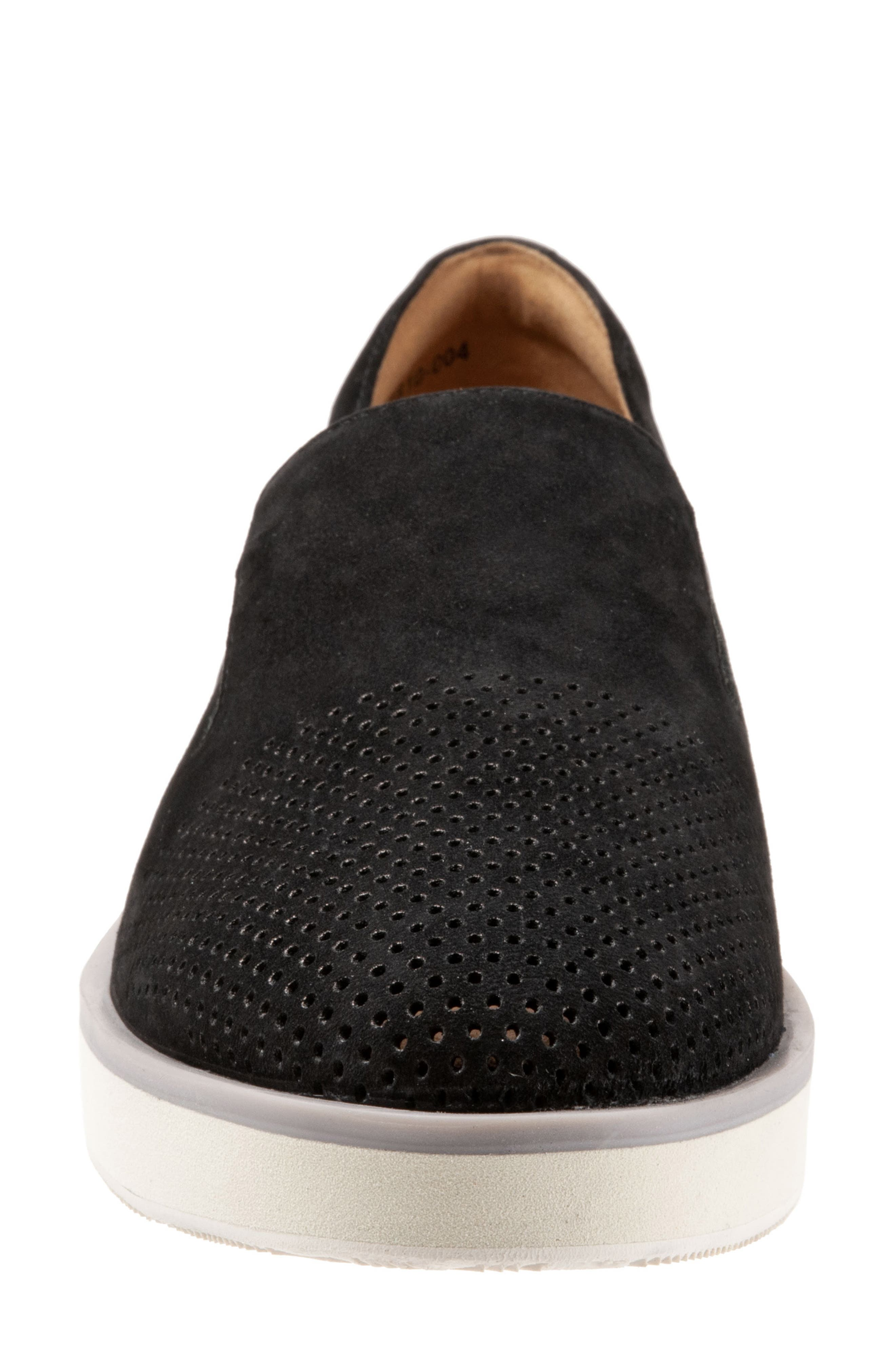 SOFTWALK<SUP>®</SUP>, Whistle Slip-On, Alternate thumbnail 4, color, BLACK/ BLACK LEATHER