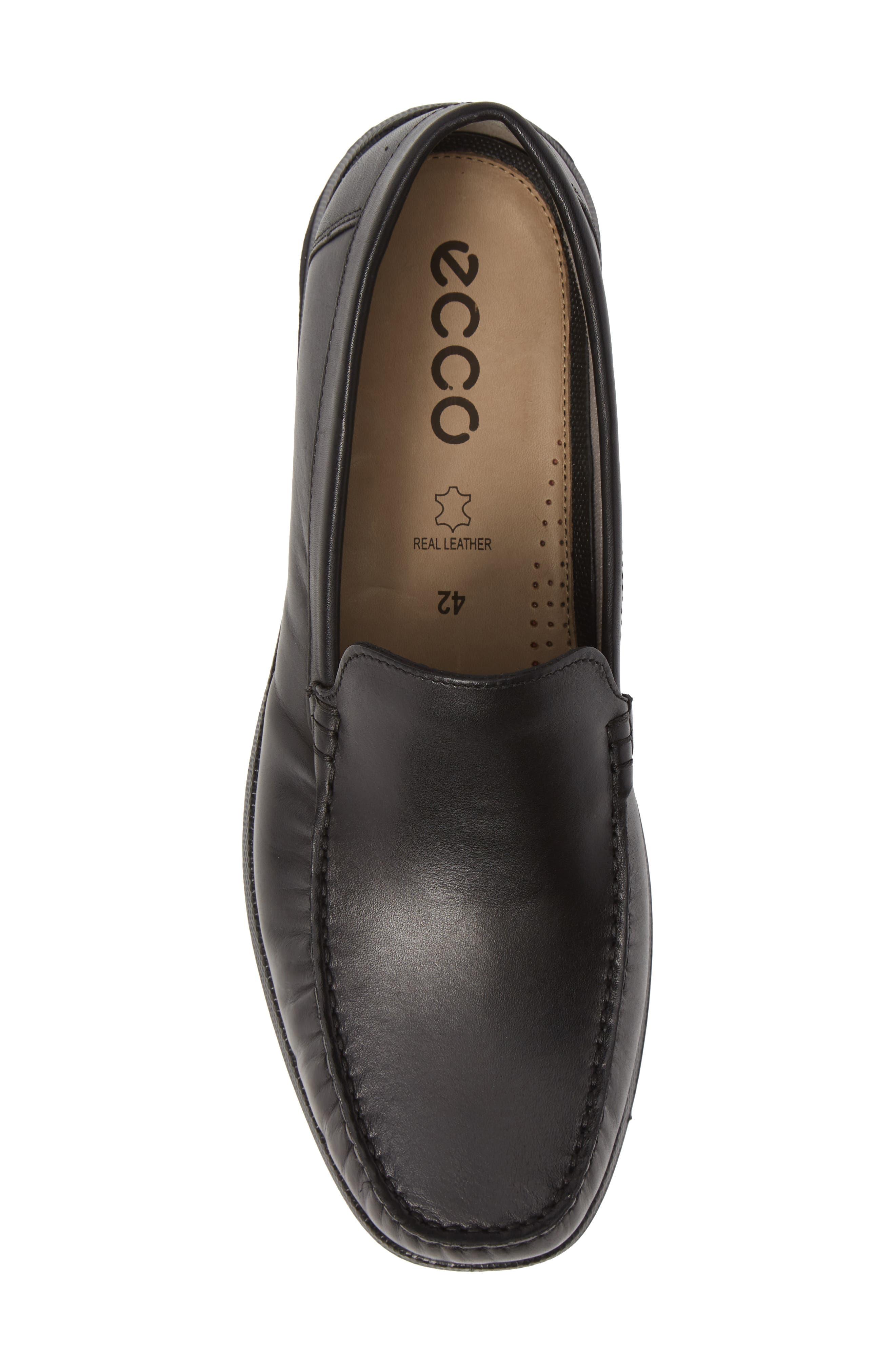 ECCO, Reciprico Driving Shoe, Alternate thumbnail 5, color, BLACK LEATHER