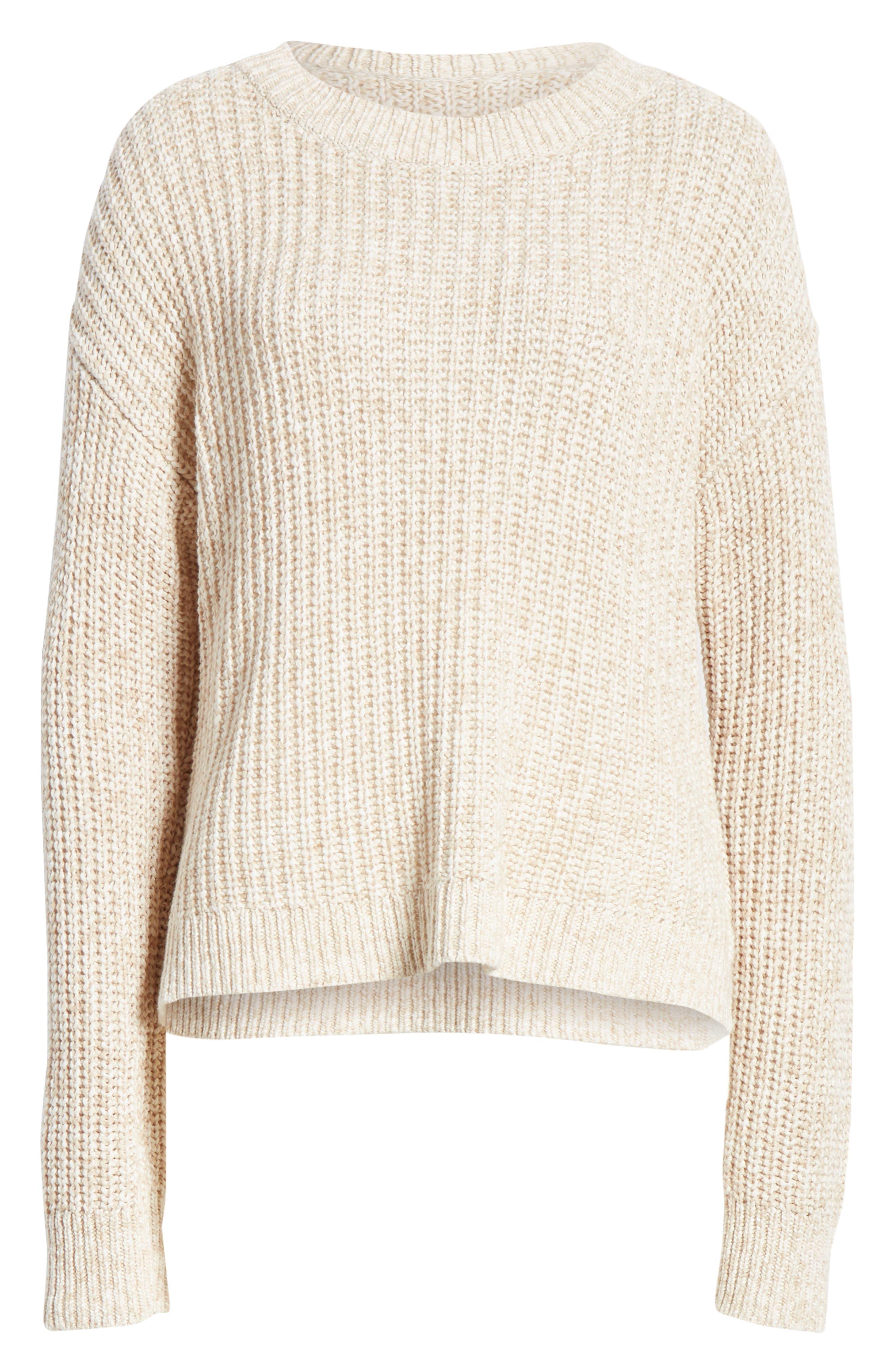 ALEX MILL, Mélange Sweater, Alternate thumbnail 6, color, LIGHT KHAKI