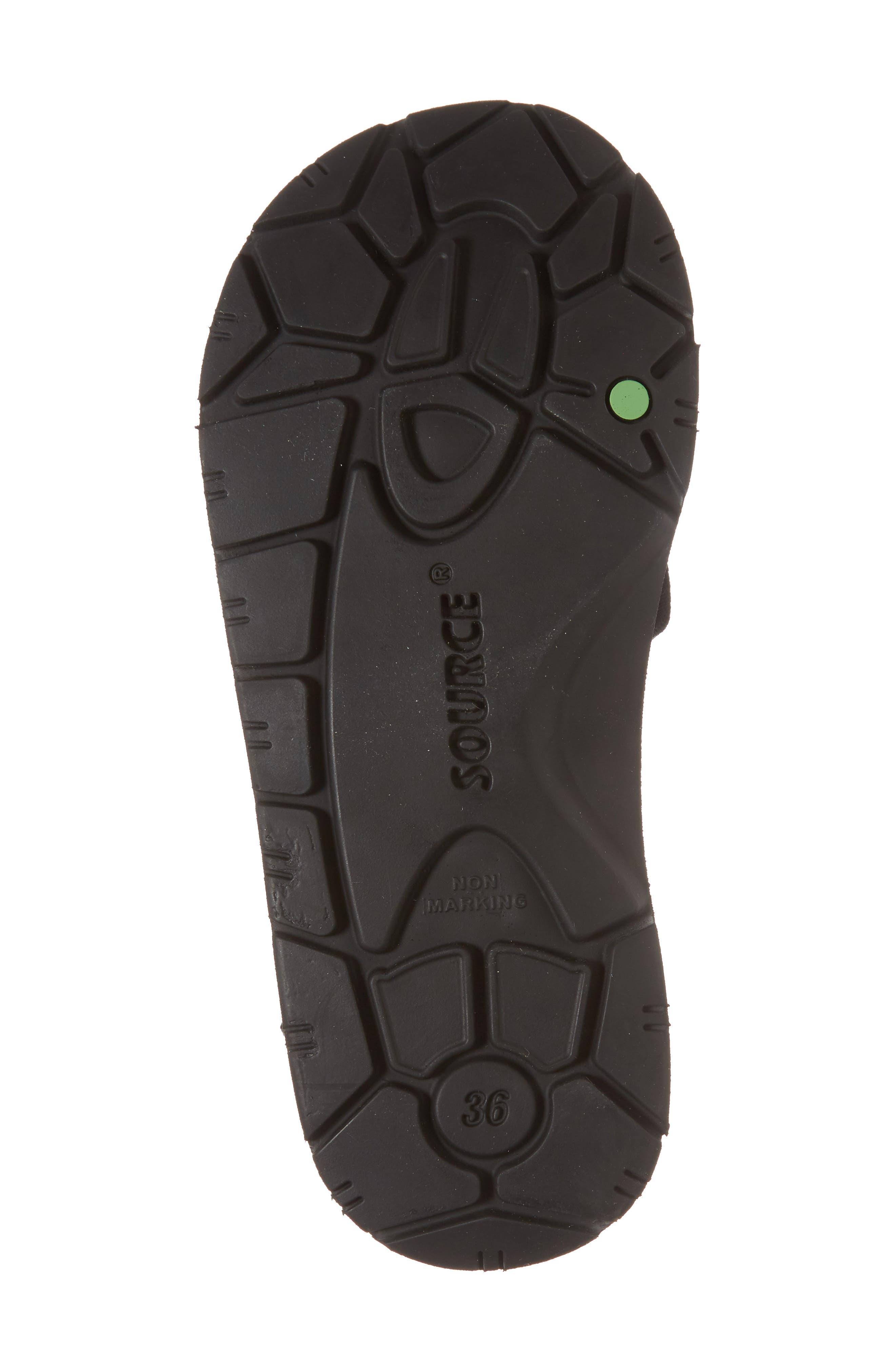 NAOT, Shore Sandal, Alternate thumbnail 6, color, BLACK FABRIC