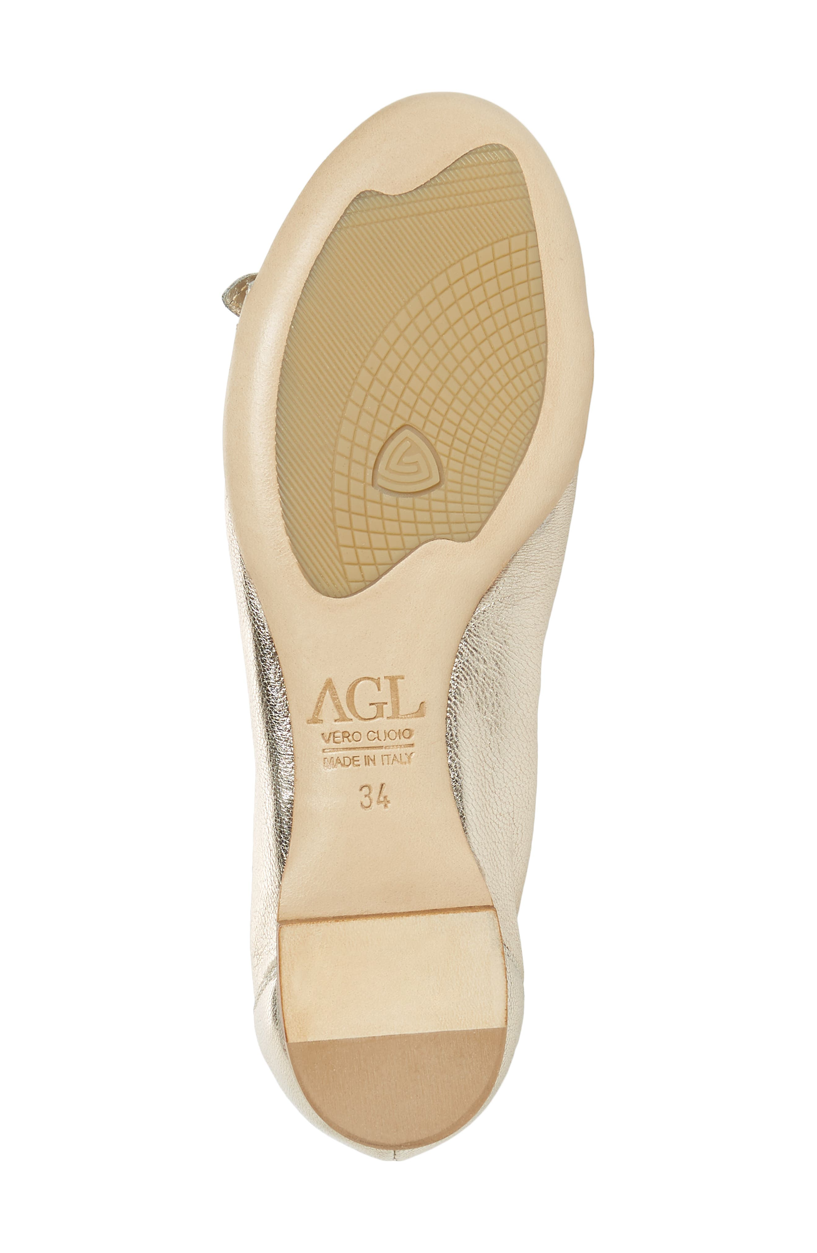 AGL, Cap Toe Ballet Flat, Alternate thumbnail 6, color, 021