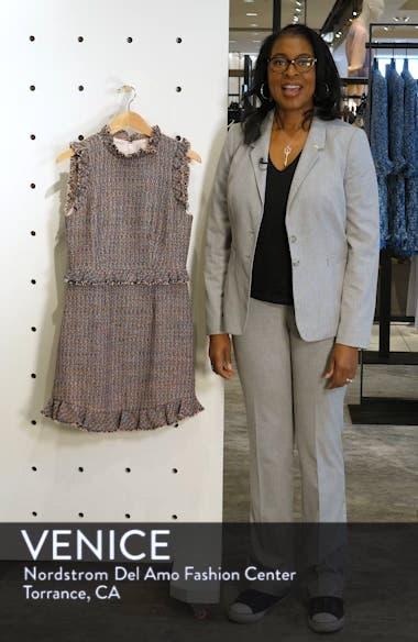 Frayed Ruffle Tweed Dress, sales video thumbnail
