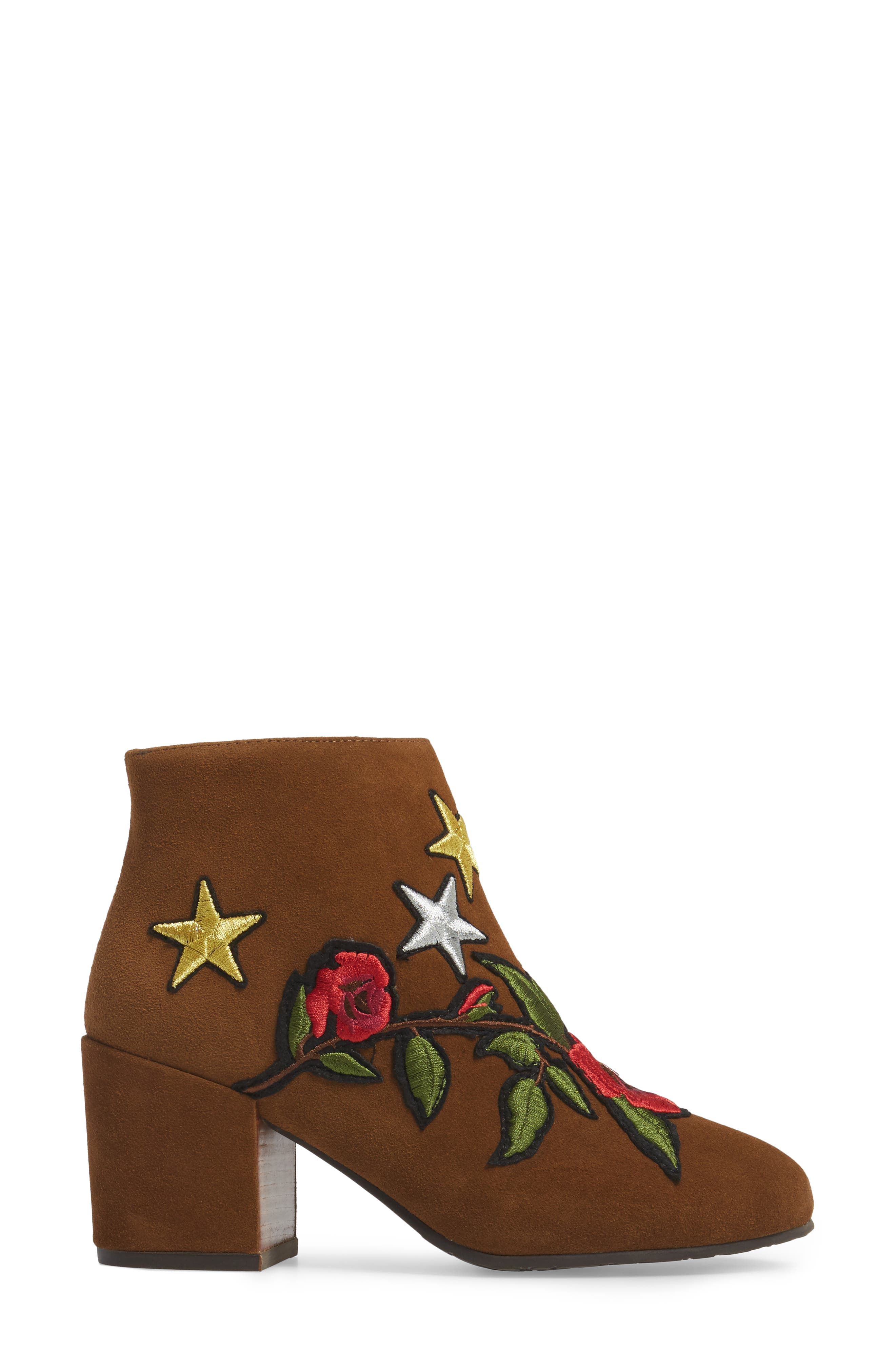 GENTLE SOULS BY KENNETH COLE, Blaise Patches Bootie, Alternate thumbnail 3, color, WALNUT SUEDE