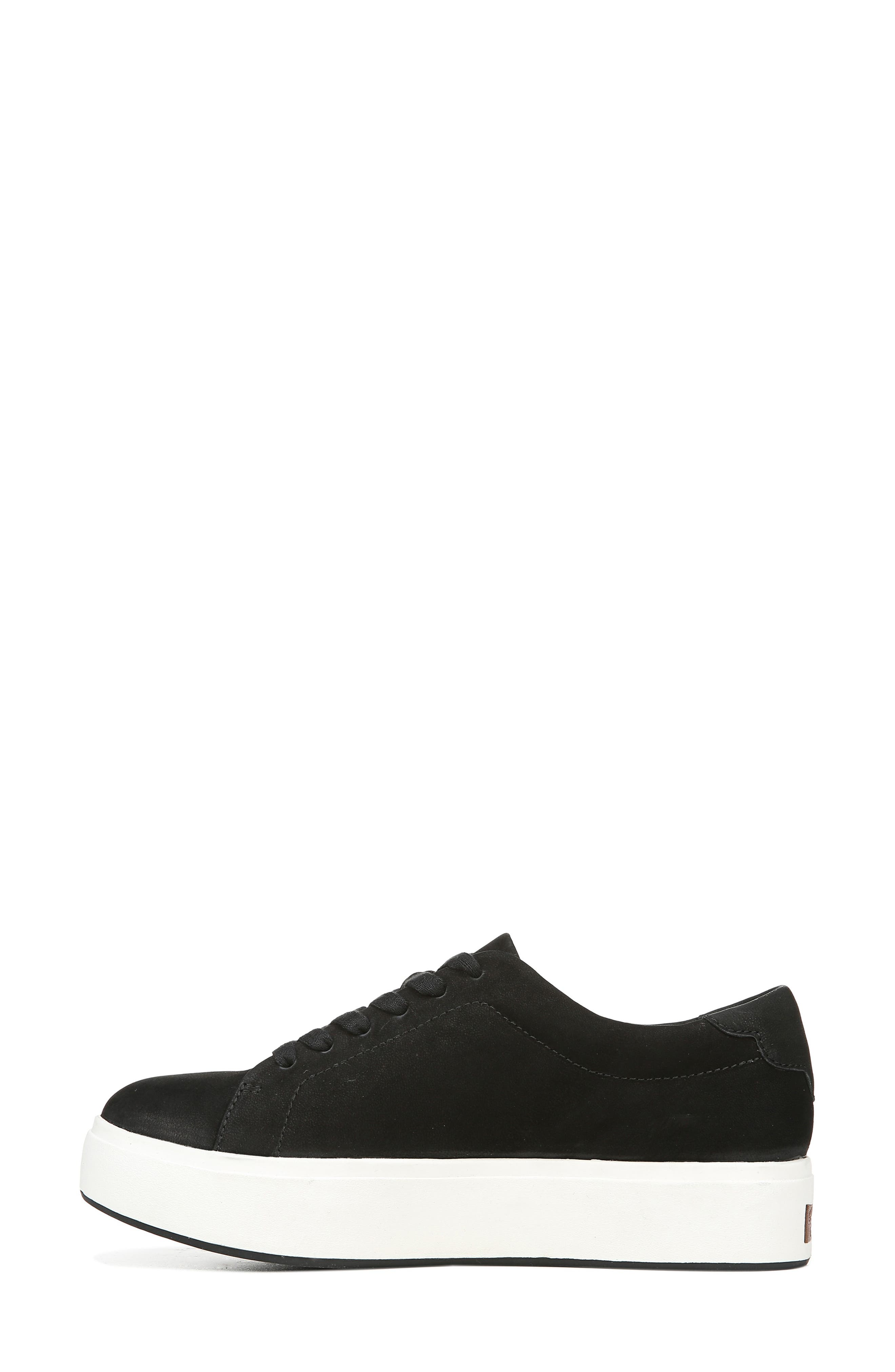DR. SCHOLL'S, Abbot Luxe Platform Sneaker, Alternate thumbnail 8, color, BLACK SUEDE