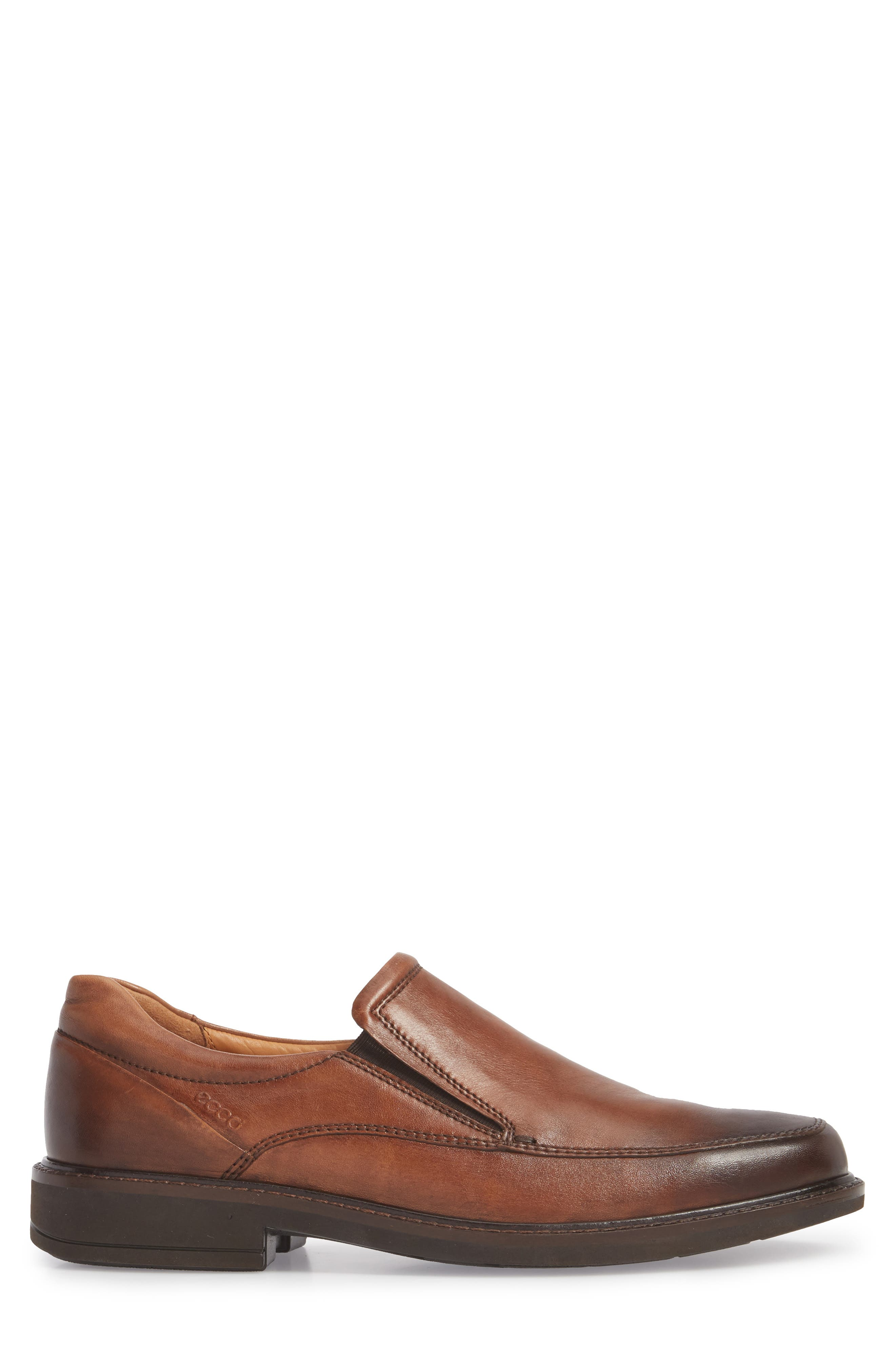 ECCO, Holton Slip-On, Alternate thumbnail 3, color, AMBER LEATHER