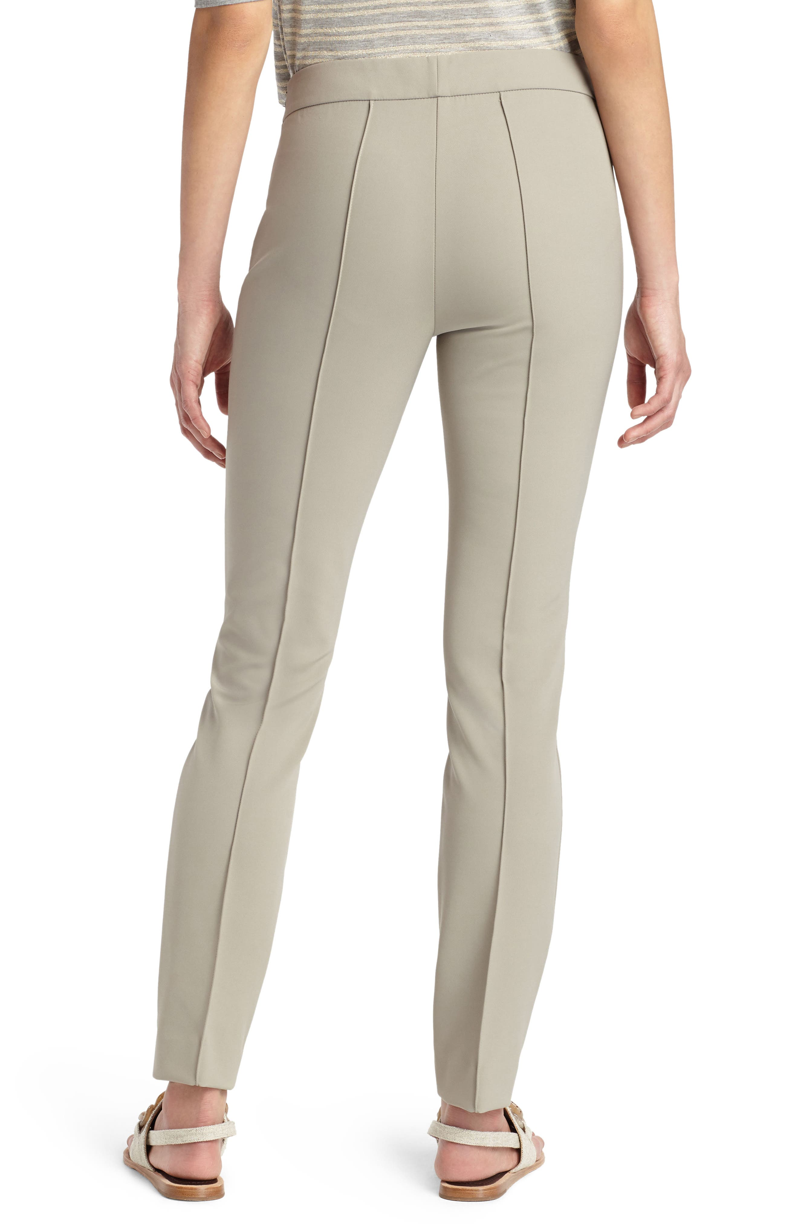 LAFAYETTE 148 NEW YORK, 'Gramercy' Acclaimed Stretch Pants, Alternate thumbnail 2, color, PARTRIDGE