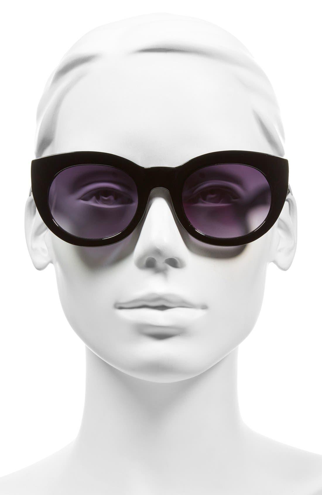 A.J. MORGAN, 'Inga' 50mm Sunglasses, Alternate thumbnail 2, color, 001